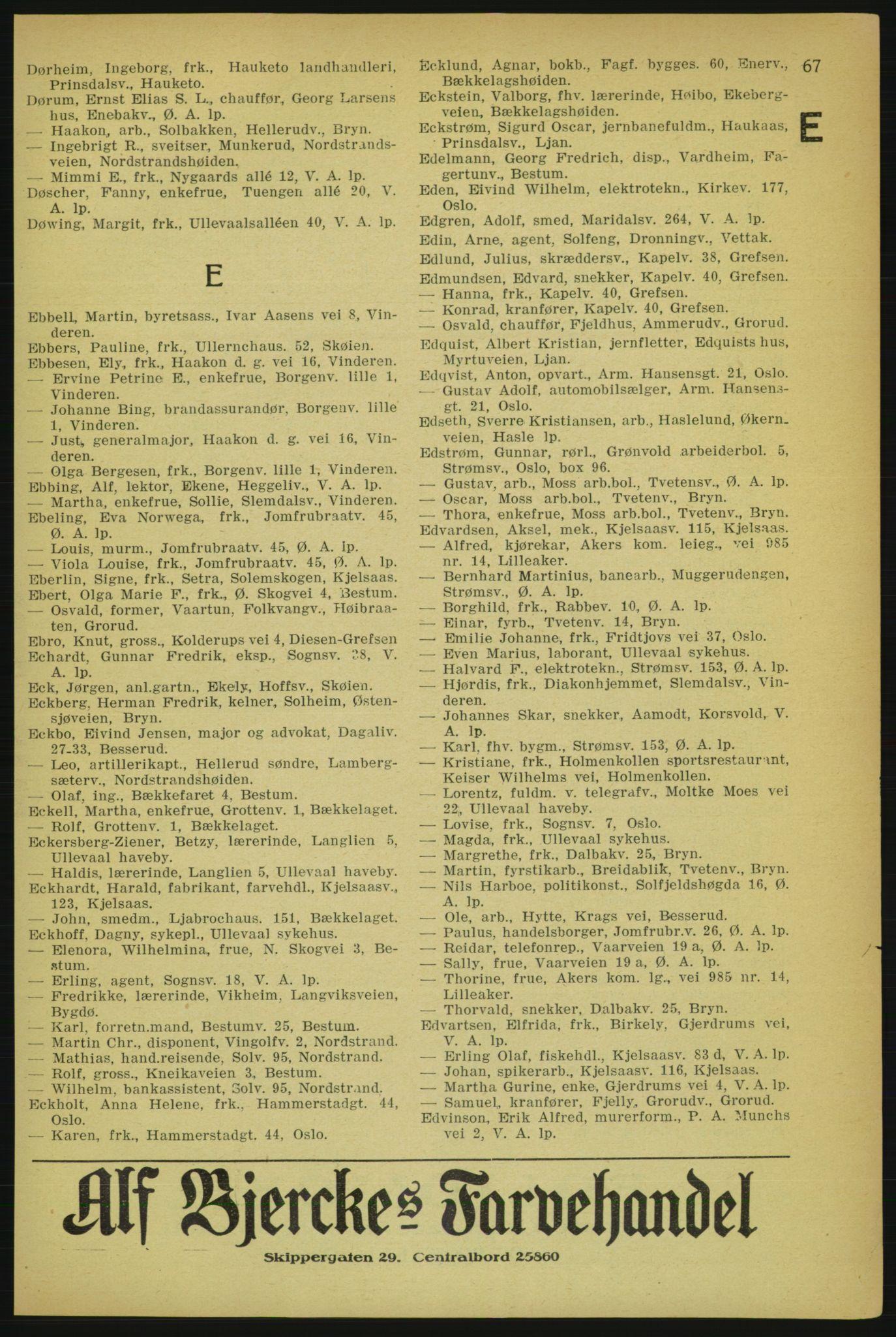 PUBL, Aker adressebok/adressekalender, 1929, s. 67