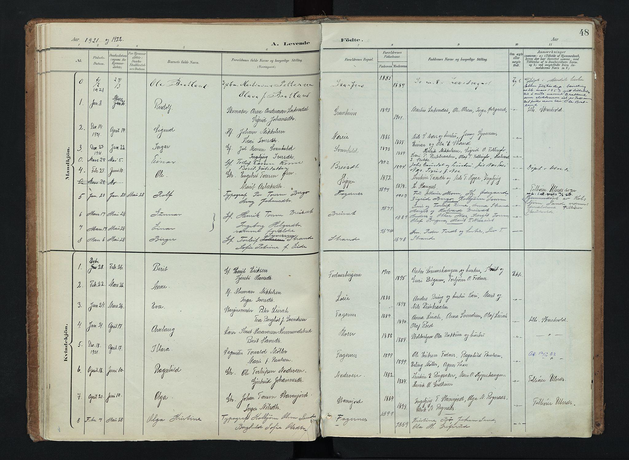 SAH, Nord-Aurdal prestekontor, Ministerialbok nr. 16, 1897-1925, s. 48