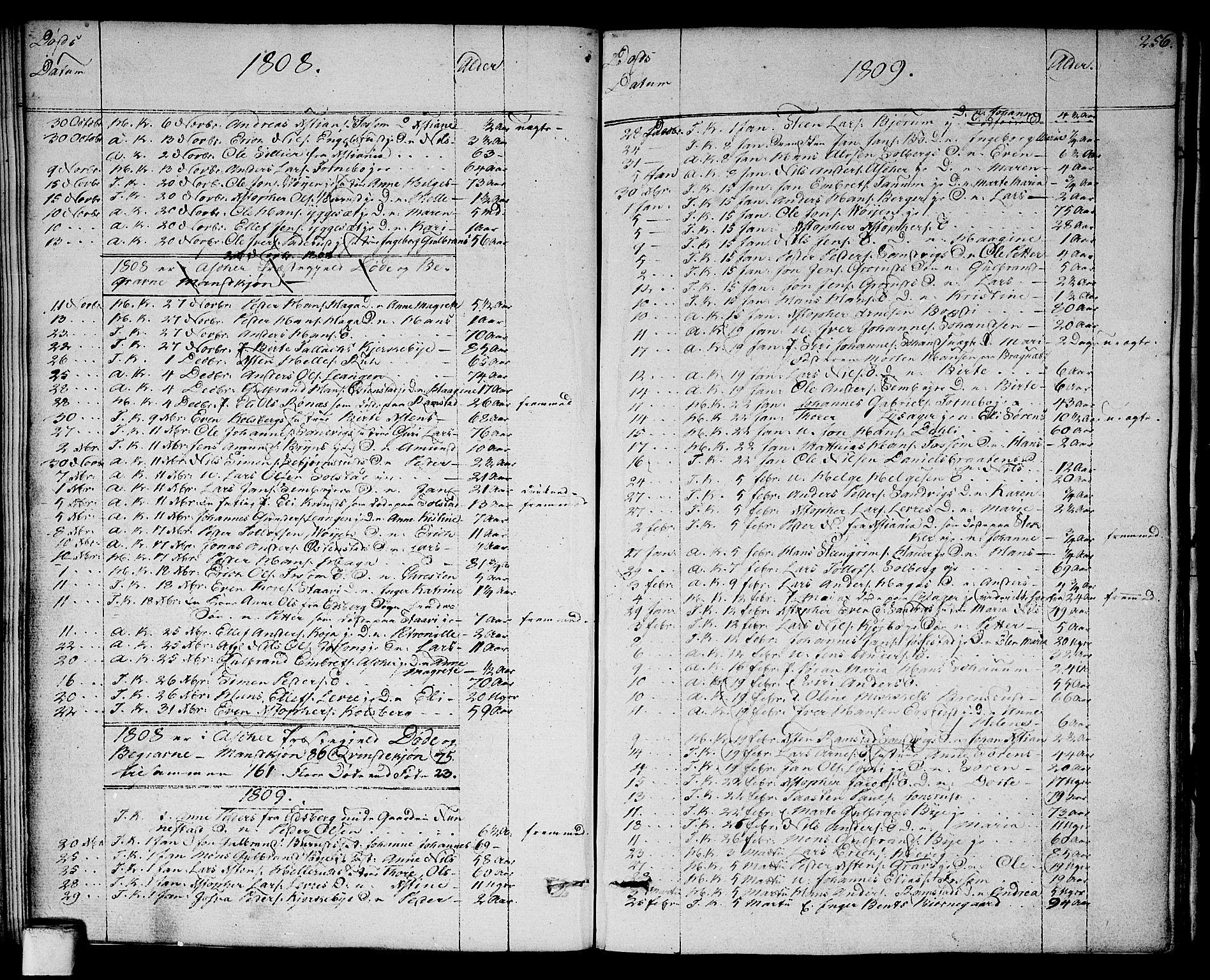 SAO, Asker prestekontor Kirkebøker, F/Fa/L0005: Ministerialbok nr. I 5, 1807-1813, s. 256