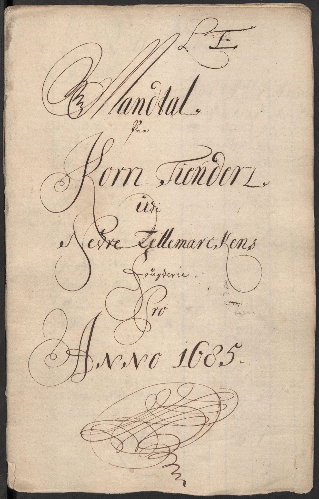 RA, Rentekammeret inntil 1814, Reviderte regnskaper, Fogderegnskap, R35/L2082: Fogderegnskap Øvre og Nedre Telemark, 1685, s. 78