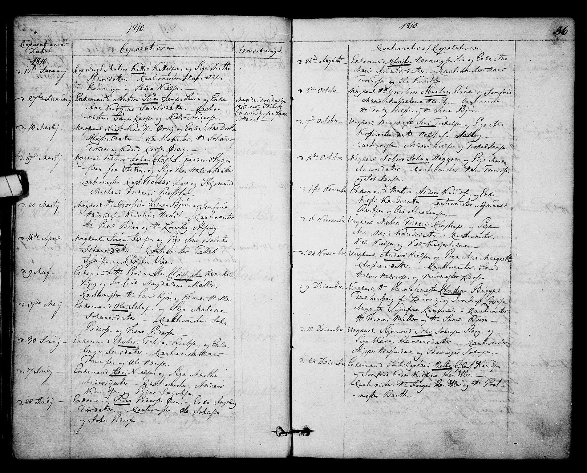 SAKO, Kragerø kirkebøker, F/Fa/L0003: Ministerialbok nr. 3, 1802-1813, s. 36