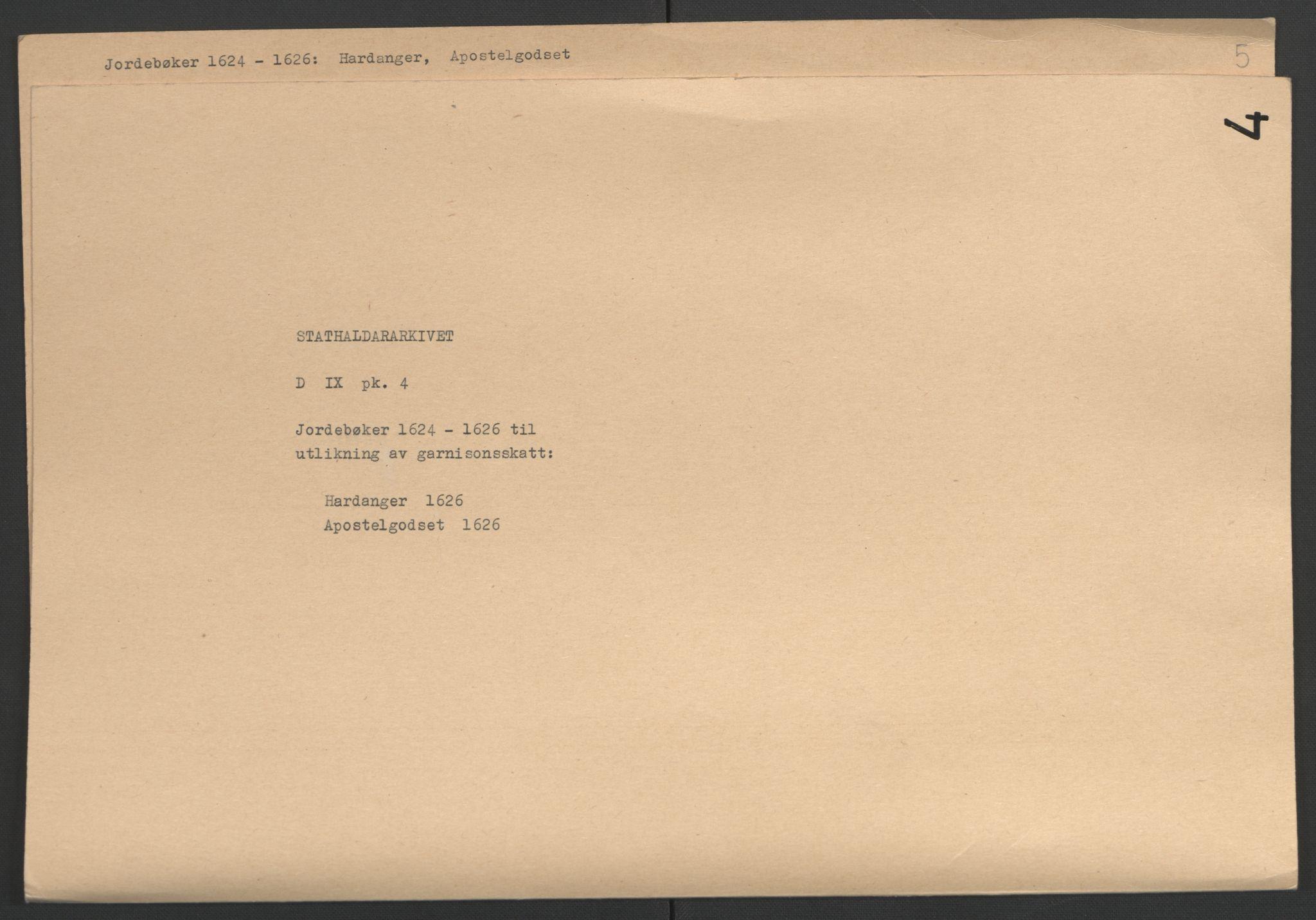 RA, Stattholderembetet 1572-1771, Ek/L0004: Jordebøker til utlikning av garnisonsskatt 1624-1626:, 1626, s. 228