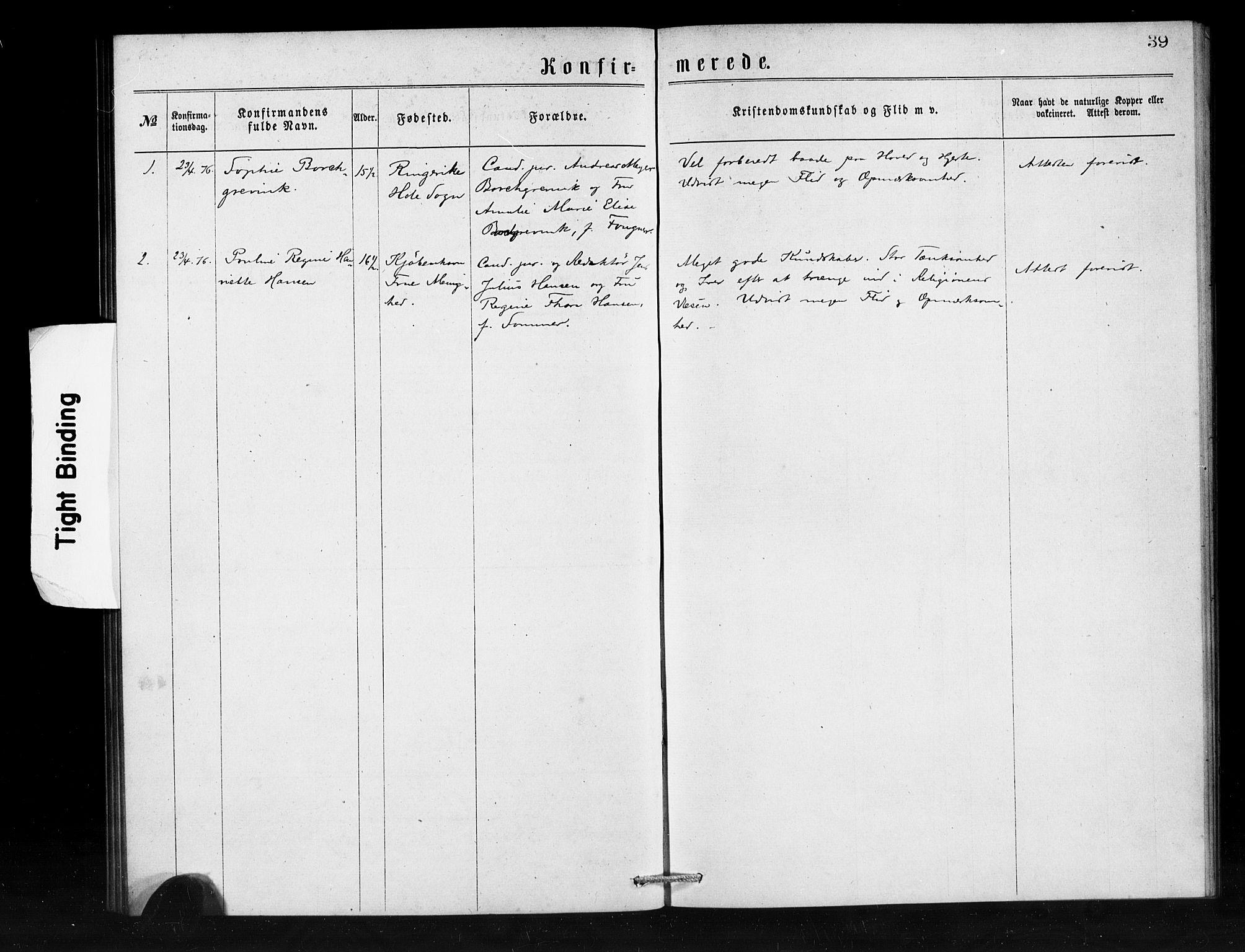 SAB, Den Norske Sjømannsmisjon i utlandet*, Ministerialbok nr. A 1, 1873-1889, s. 39
