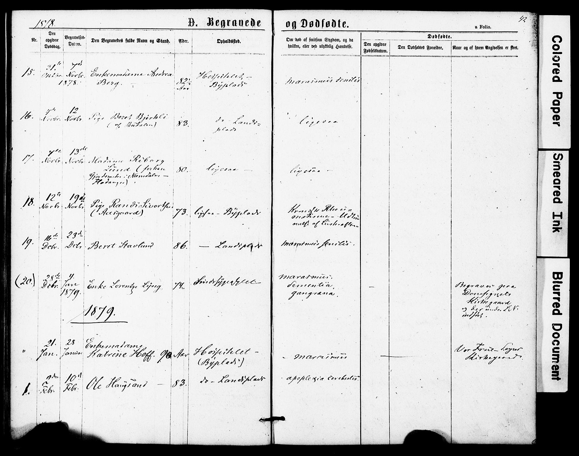 SAT, Ministerialprotokoller, klokkerbøker og fødselsregistre - Sør-Trøndelag, 623/L0469: Ministerialbok nr. 623A03, 1868-1883, s. 42