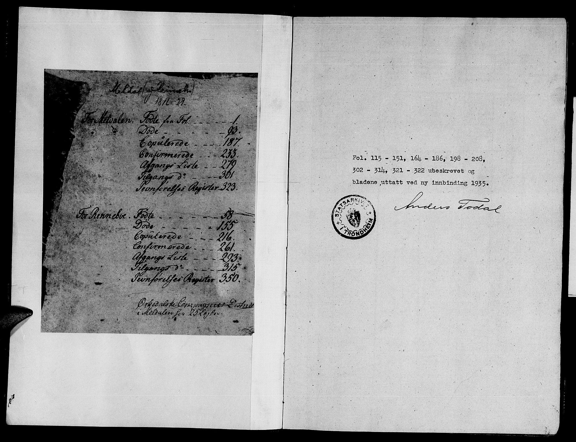 SAT, Ministerialprotokoller, klokkerbøker og fødselsregistre - Sør-Trøndelag, 672/L0854: Ministerialbok nr. 672A06 /2, 1816-1829