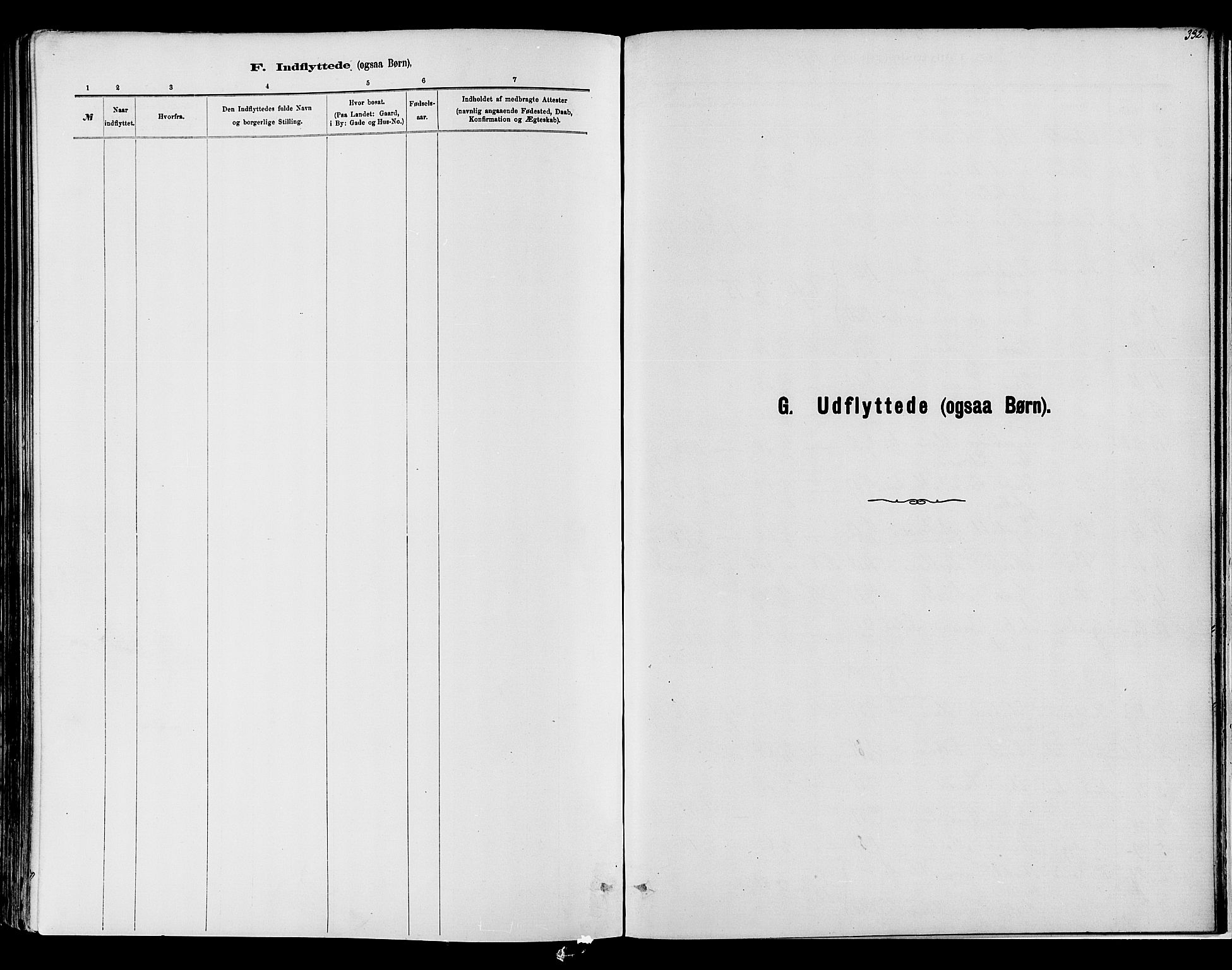 SAH, Vardal prestekontor, H/Ha/Haa/L0008: Ministerialbok nr. 8, 1878-1890, s. 332