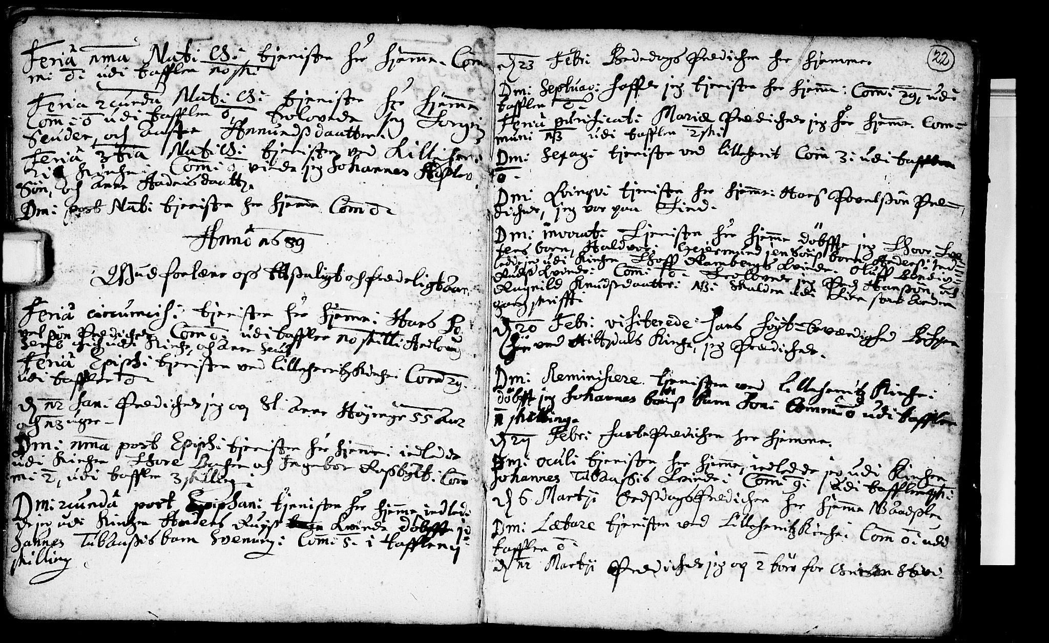 SAKO, Heddal kirkebøker, F/Fa/L0001: Ministerialbok nr. I 1, 1648-1699, s. 22
