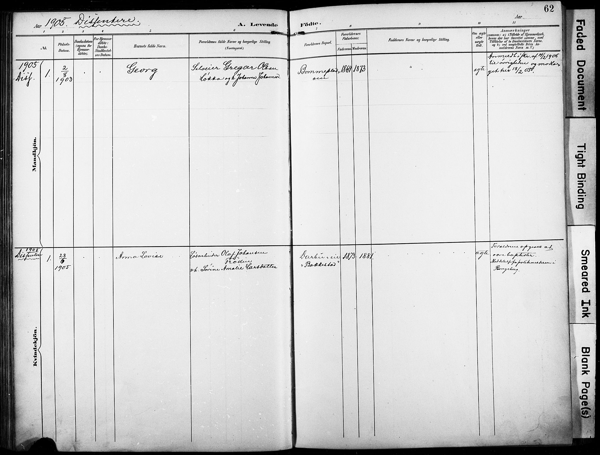 SAKO, Fiskum kirkebøker, F/Fa/L0003: Ministerialbok nr. 3, 1890-1905, s. 62