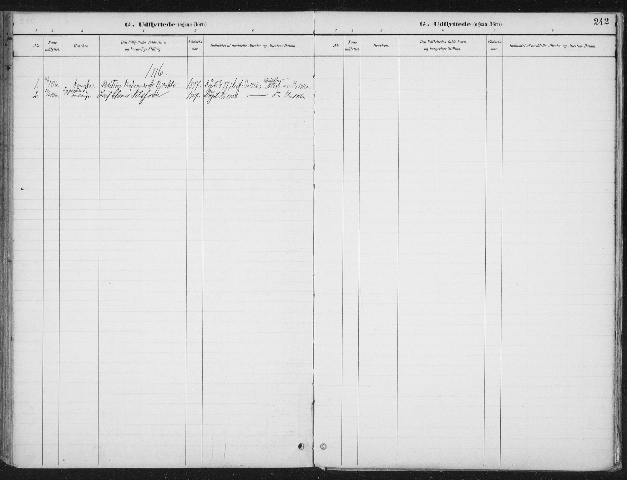 SAT, Ministerialprotokoller, klokkerbøker og fødselsregistre - Nord-Trøndelag, 709/L0082: Ministerialbok nr. 709A22, 1896-1916, s. 242