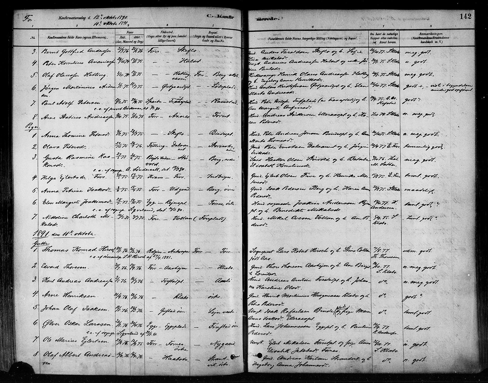 SAT, Ministerialprotokoller, klokkerbøker og fødselsregistre - Nord-Trøndelag, 746/L0448: Ministerialbok nr. 746A07 /1, 1878-1900, s. 142