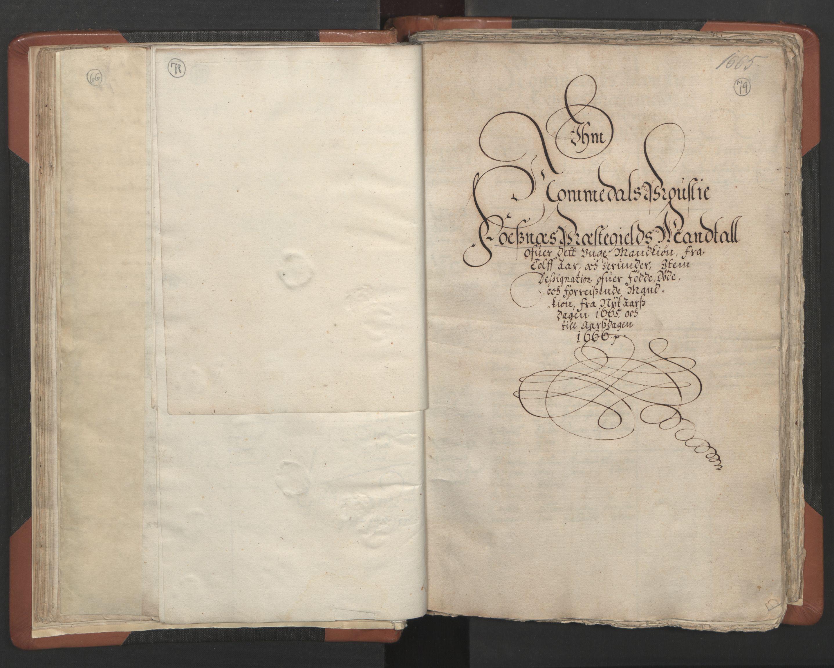 RA, Sogneprestenes manntall 1664-1666, nr. 34: Namdal prosti, 1664-1666, s. 78-79