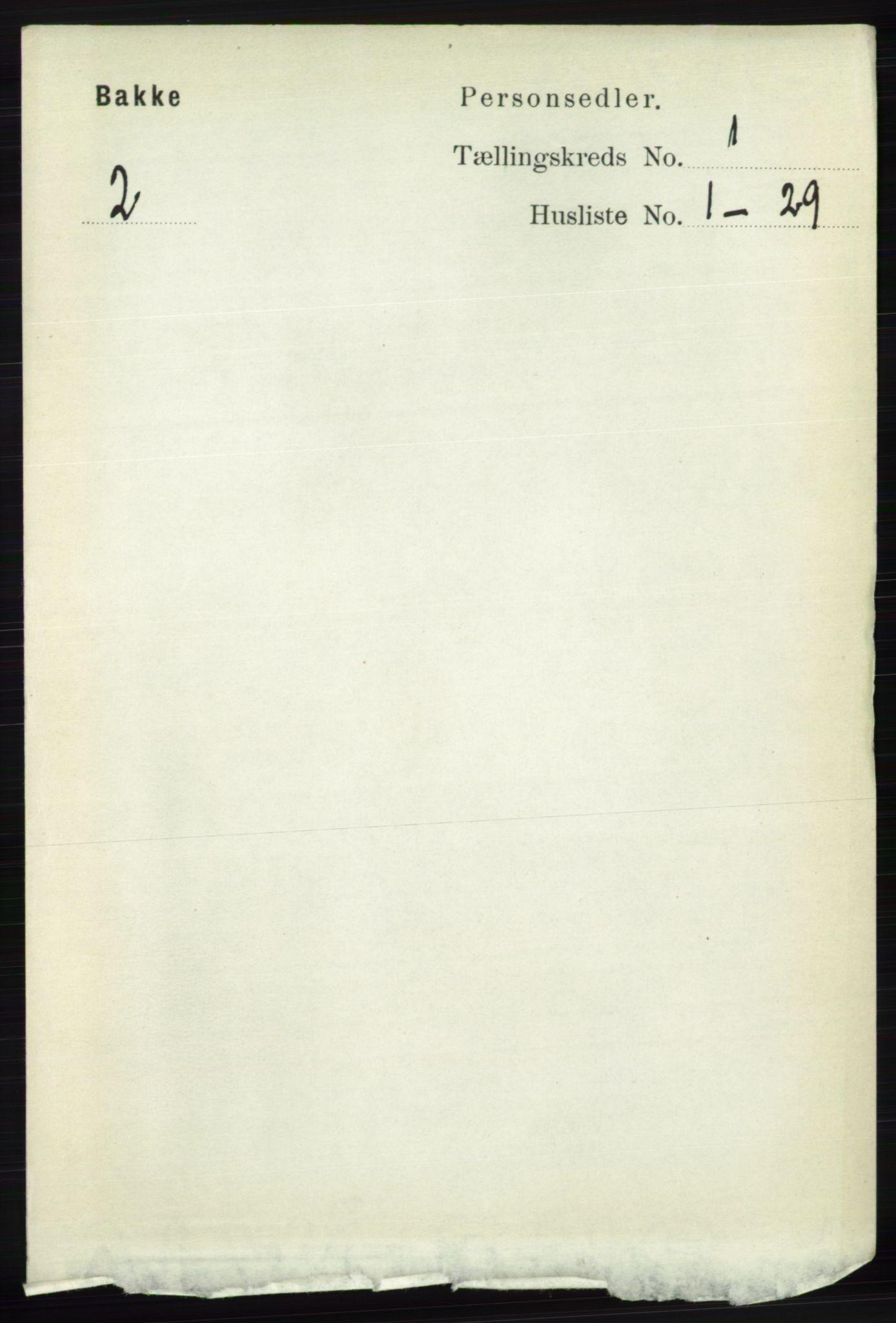RA, Folketelling 1891 for 1045 Bakke herred, 1891, s. 65