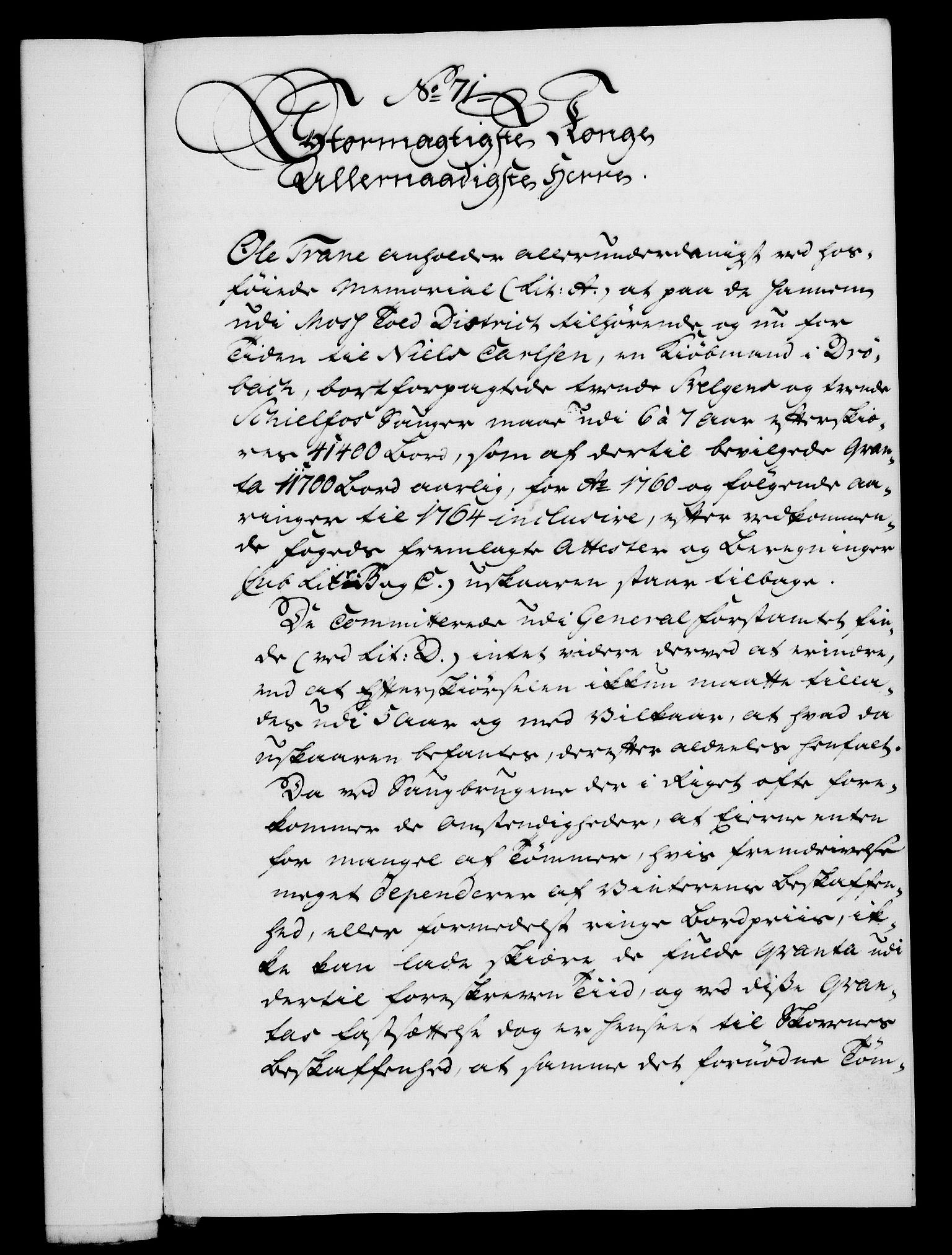 RA, Rentekammeret, Kammerkanselliet, G/Gf/Gfa/L0047: Norsk relasjons- og resolusjonsprotokoll (merket RK 52.47), 1765, s. 313