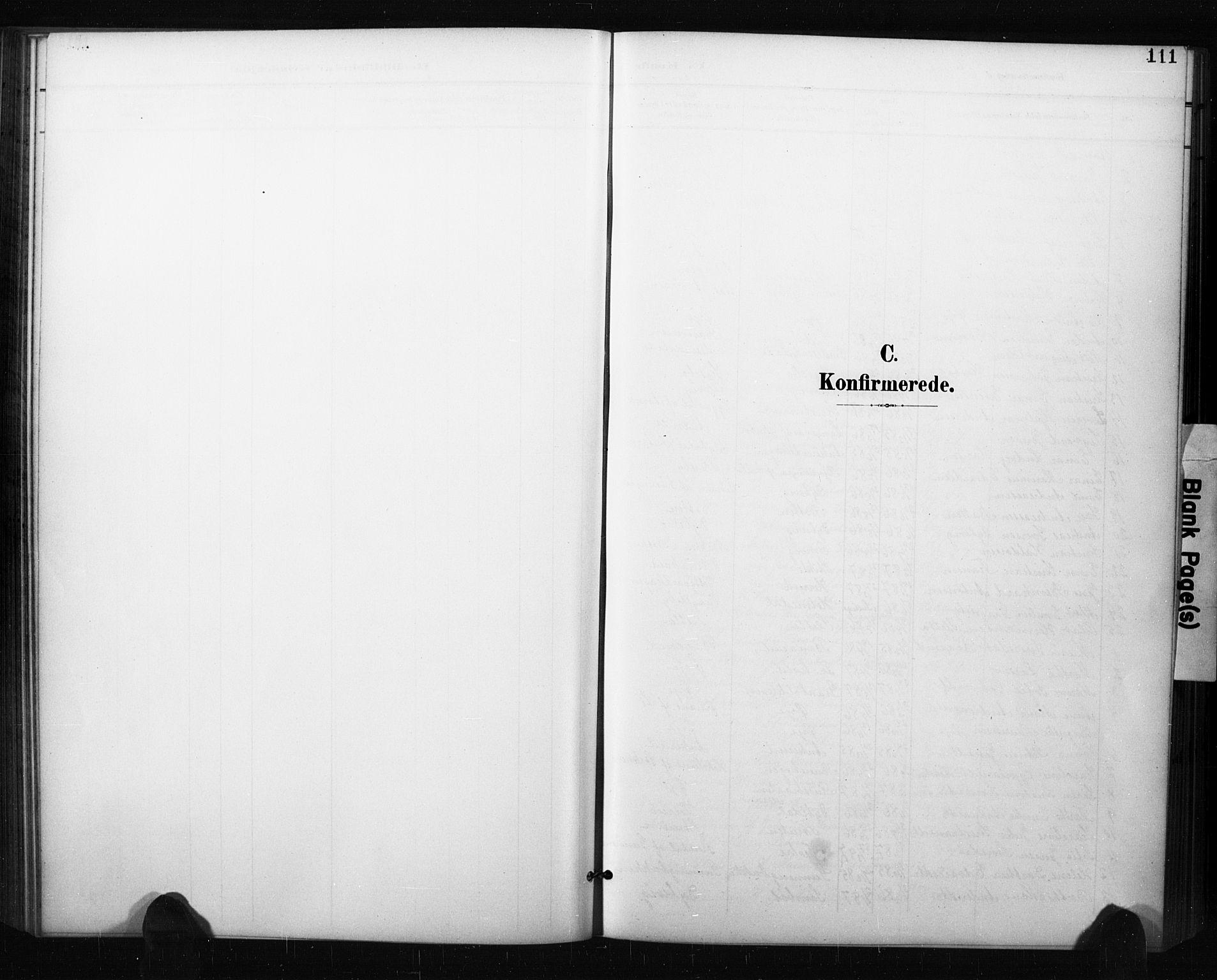 SAO, Aremark prestekontor Kirkebøker, G/Gb/L0001: Klokkerbok nr. II 1, 1901-1927, s. 111