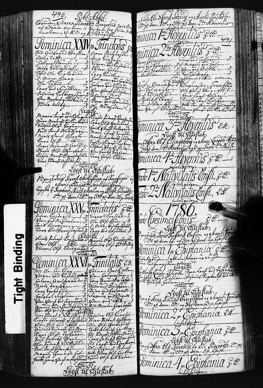 SAH, Fåberg prestekontor, Klokkerbok nr. 3, 1768-1796, s. 490-491
