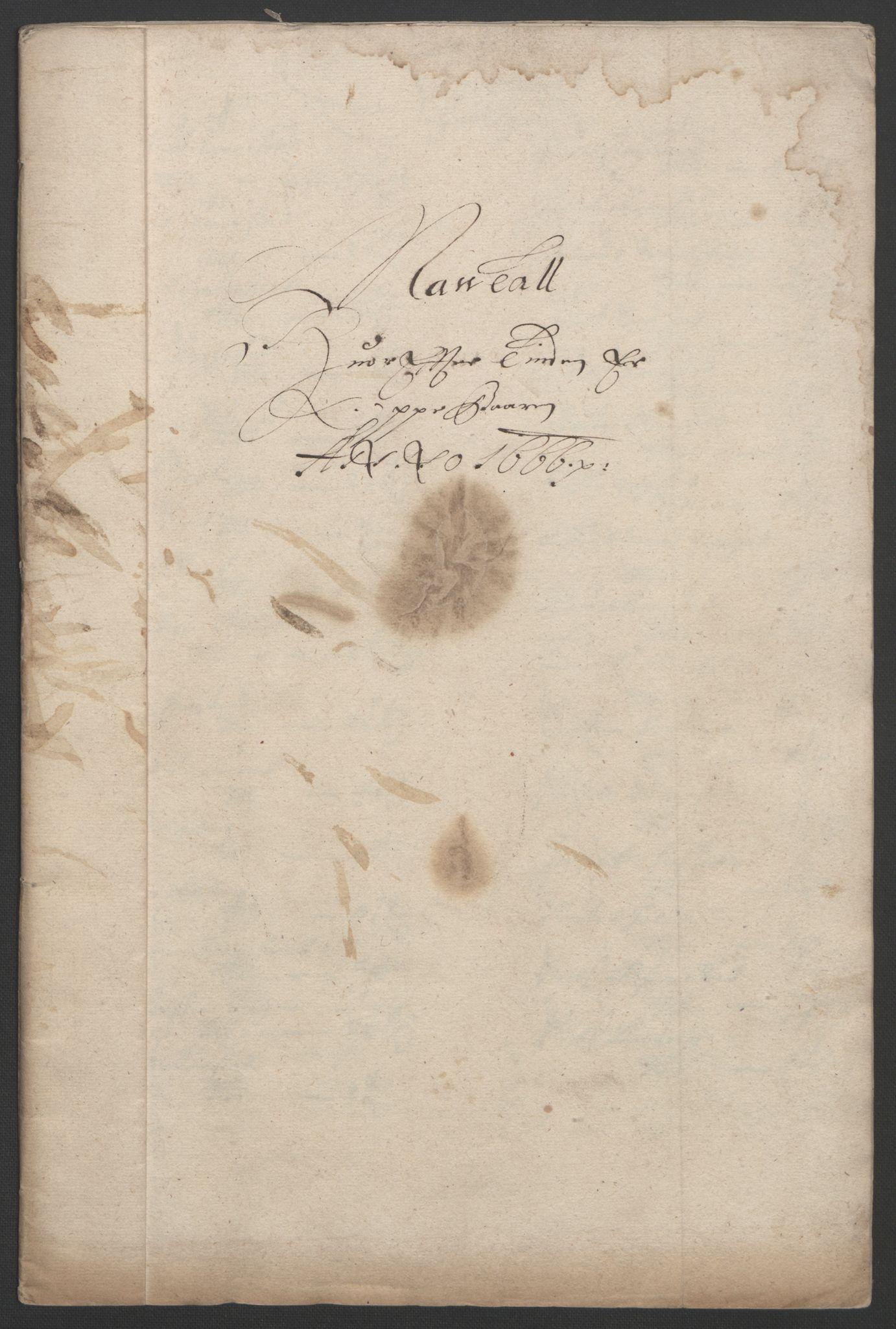 RA, Rentekammeret inntil 1814, Reviderte regnskaper, Fogderegnskap, R33/L1964: Fogderegnskap Larvik grevskap, 1665-1668, s. 44