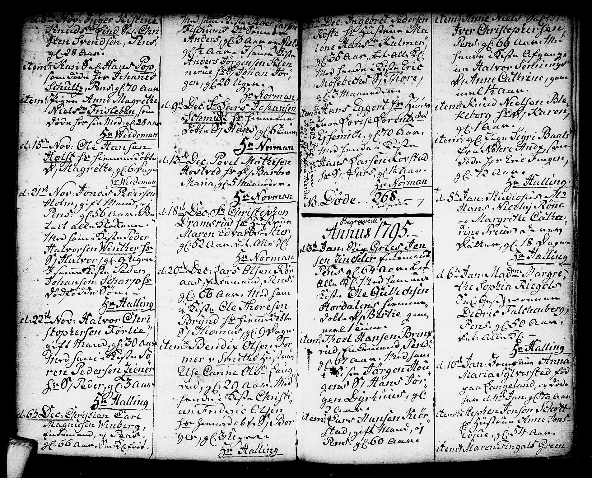 SAKO, Kongsberg kirkebøker, F/Fa/L0006: Ministerialbok nr. I 6, 1783-1797, s. 254