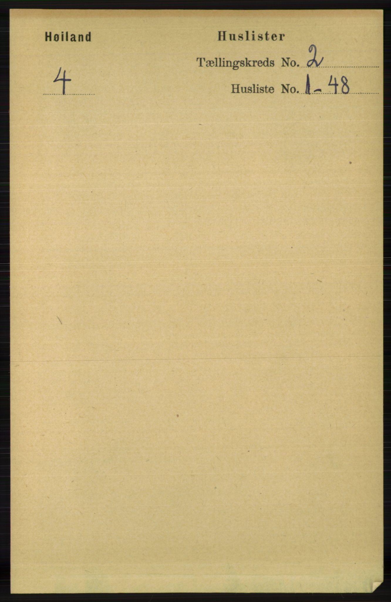 RA, Folketelling 1891 for 1123 Høyland herred, 1891, s. 276