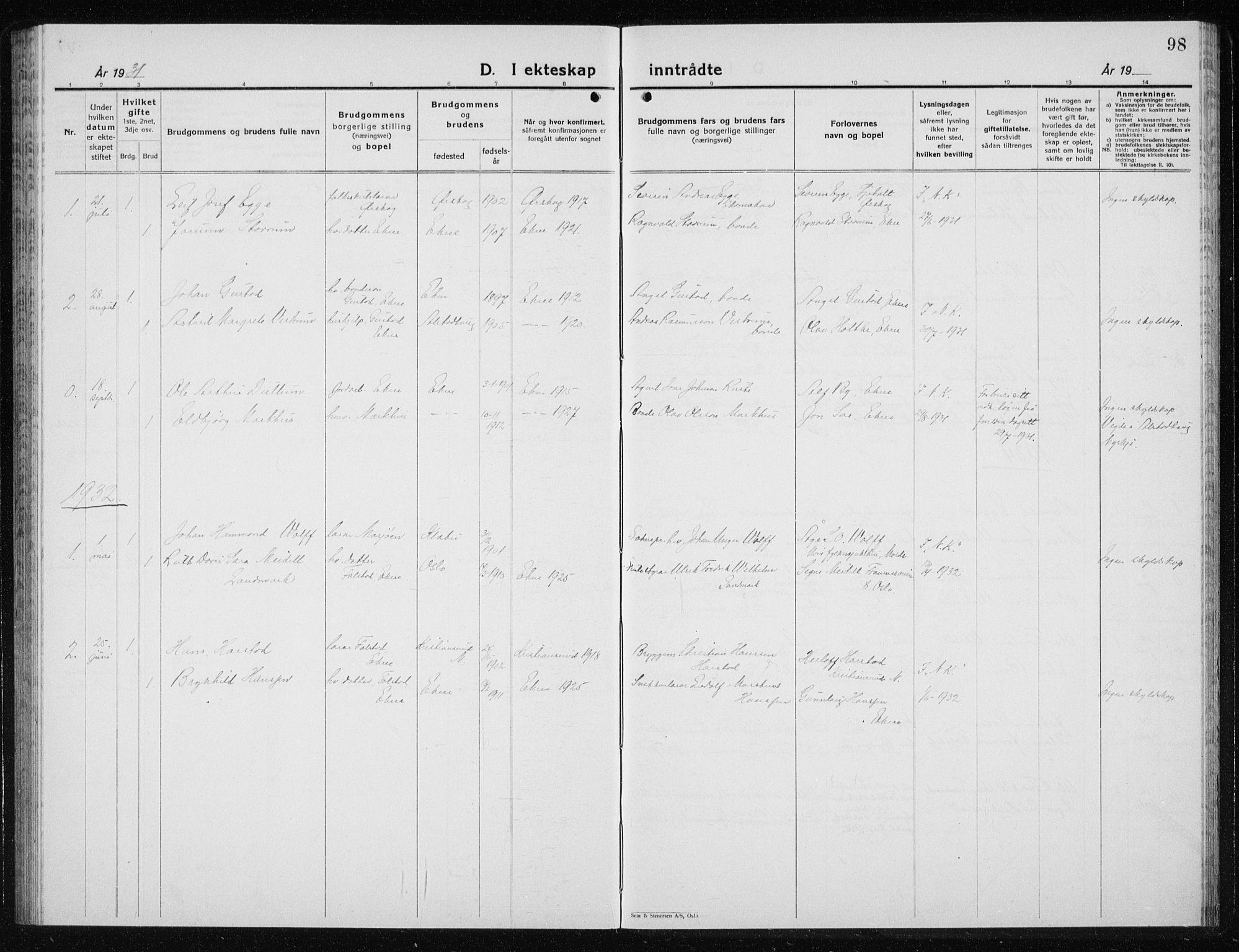 SAT, Ministerialprotokoller, klokkerbøker og fødselsregistre - Nord-Trøndelag, 719/L0180: Klokkerbok nr. 719C01, 1878-1940, s. 98