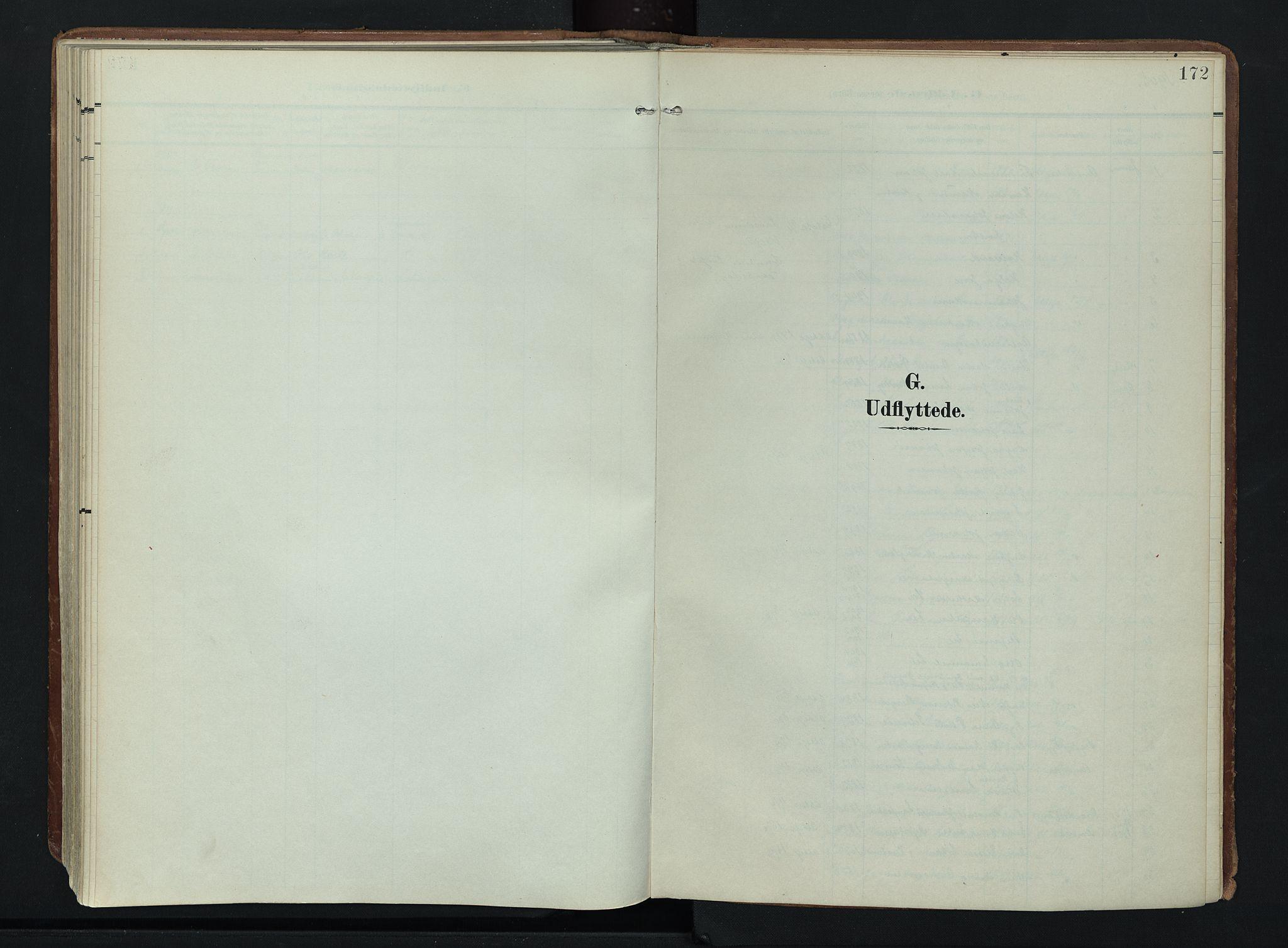 SAH, Søndre Land prestekontor, K/L0007: Ministerialbok nr. 7, 1905-1914, s. 172