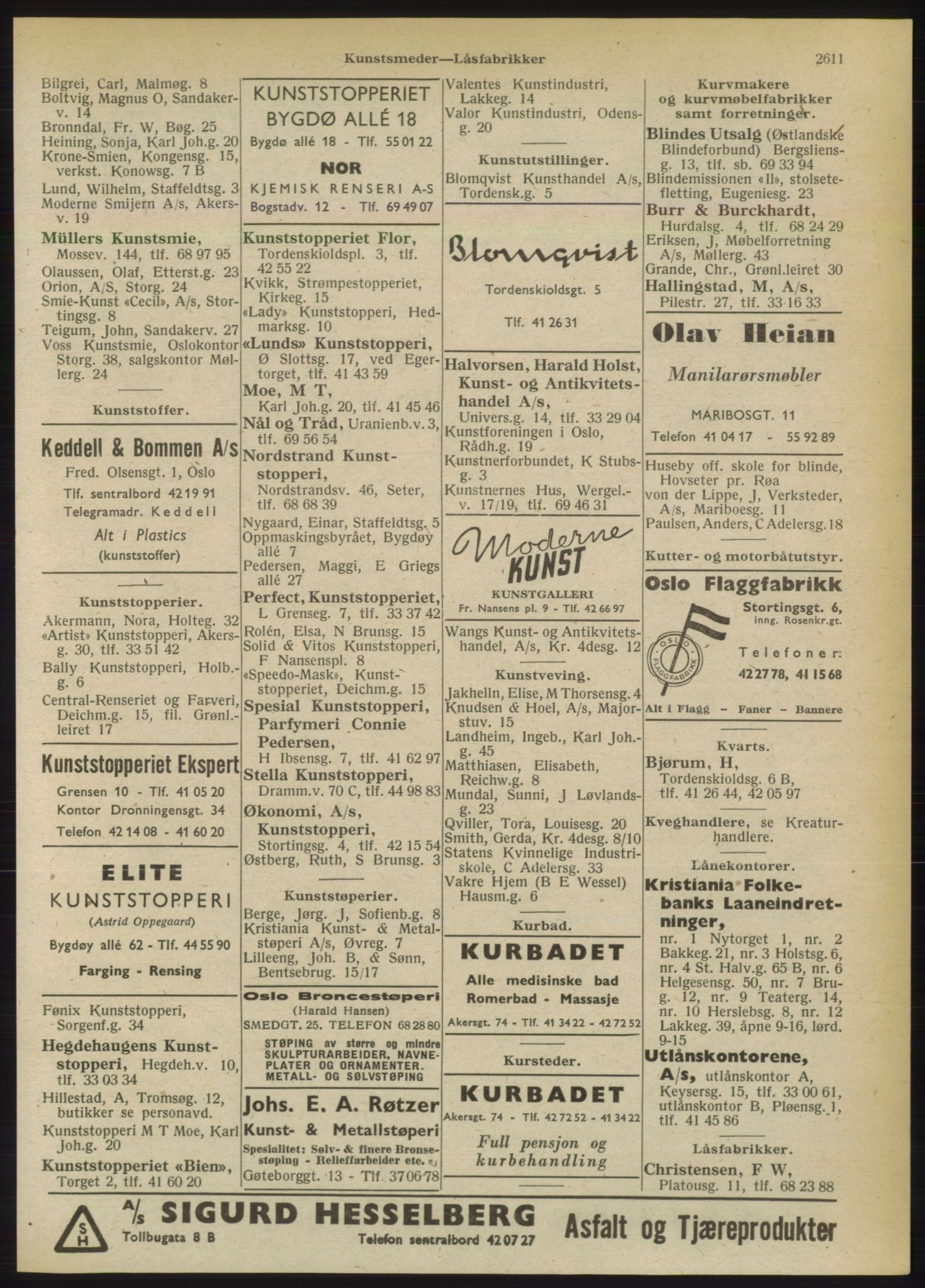 RA, Oslo adressebok (publikasjon)*, 1949, s. 2611