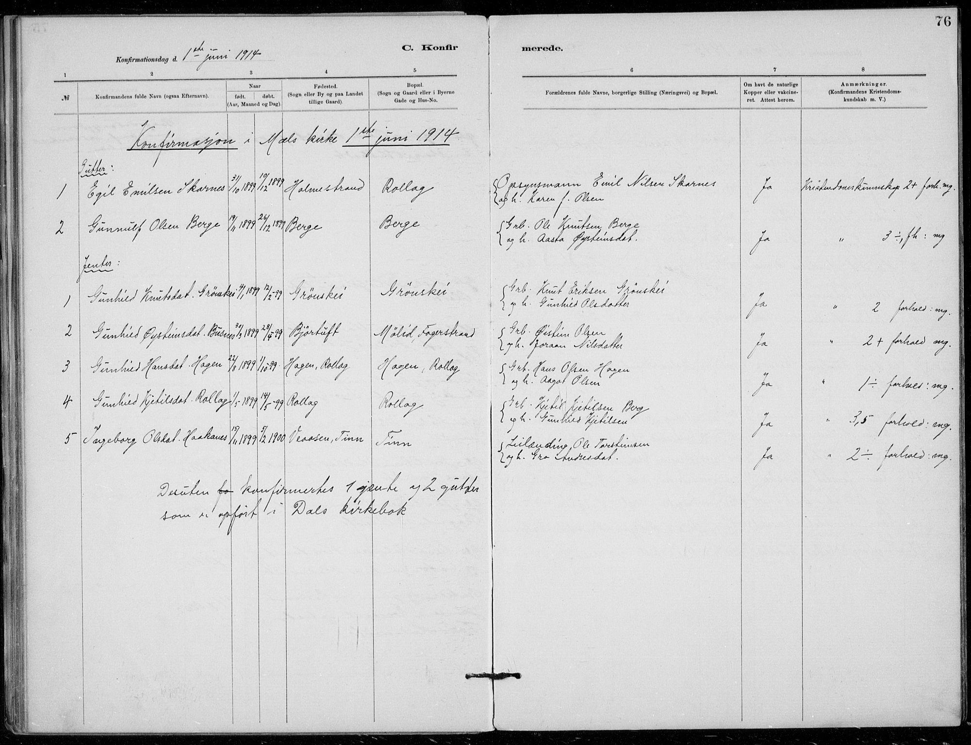 SAKO, Tinn kirkebøker, F/Fb/L0002: Ministerialbok nr. II 2, 1878-1917, s. 76