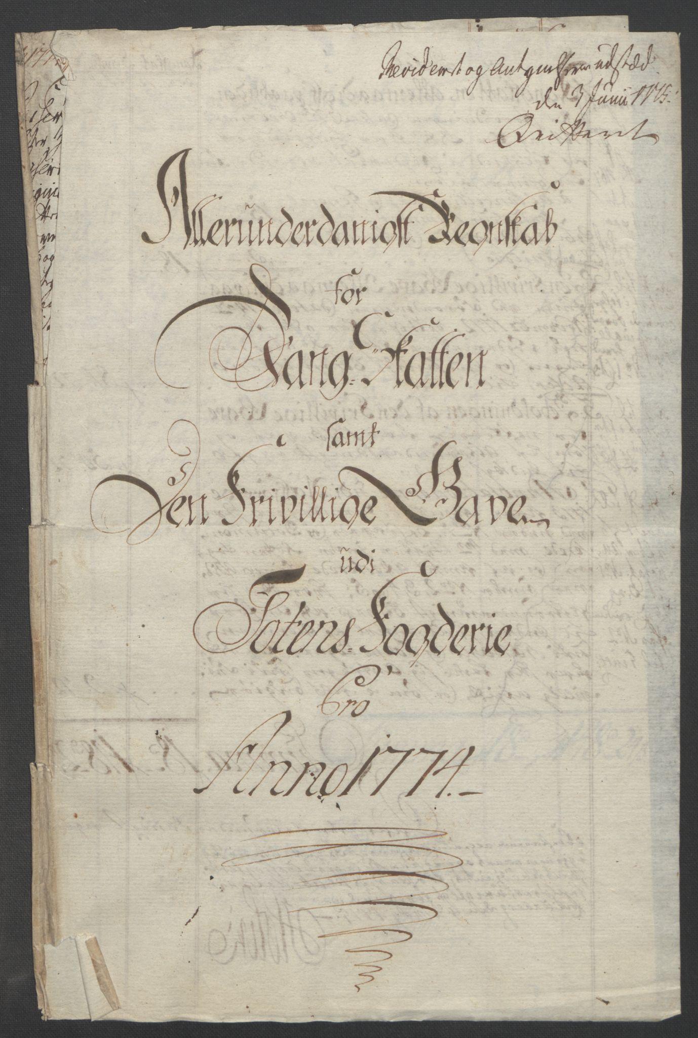RA, Rentekammeret inntil 1814, Reviderte regnskaper, Fogderegnskap, R19/L1399: Fogderegnskap Toten, Hadeland og Vardal, 1762-1783, s. 327