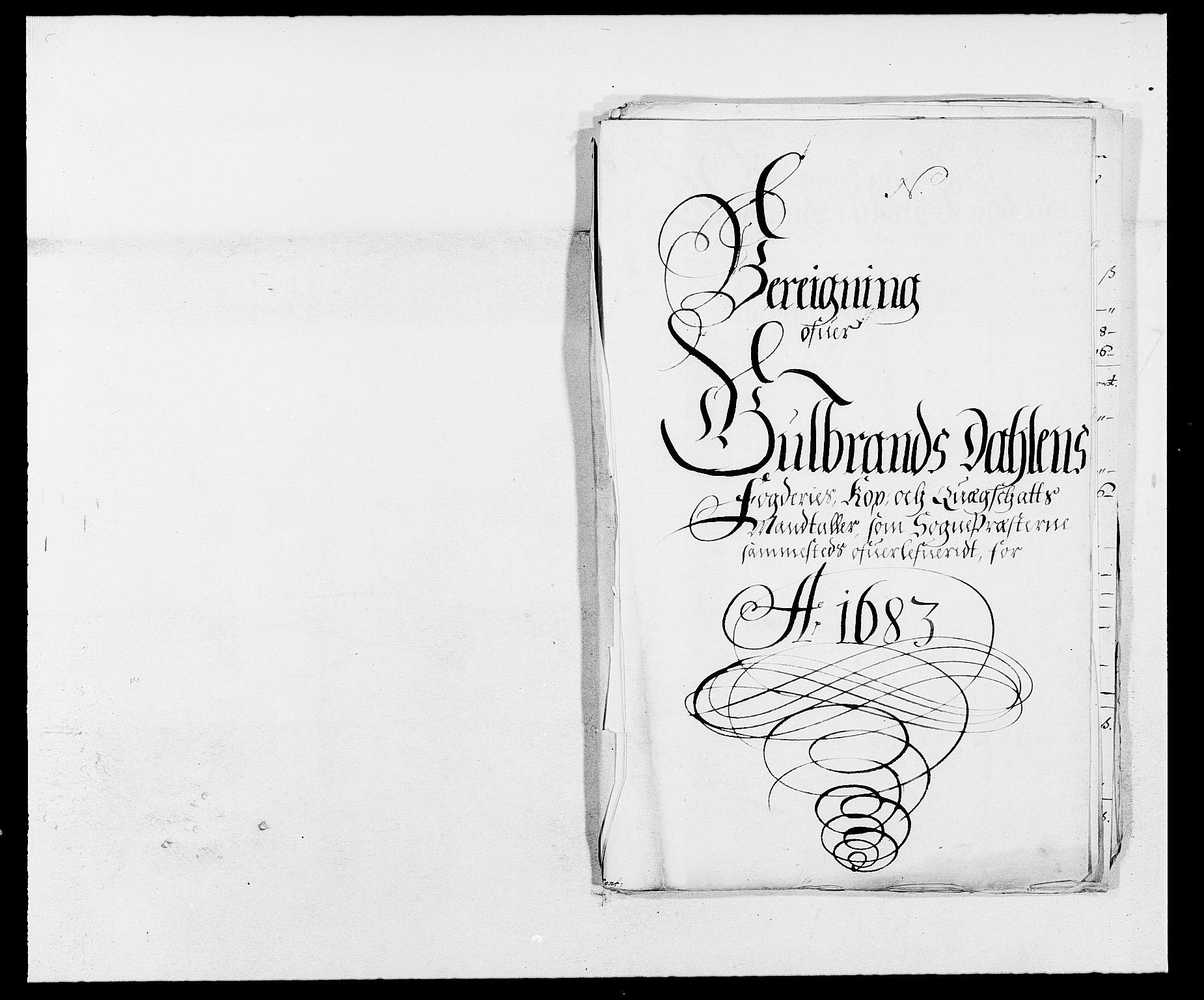 RA, Rentekammeret inntil 1814, Reviderte regnskaper, Fogderegnskap, R17/L1158: Fogderegnskap Gudbrandsdal, 1682-1689, s. 273