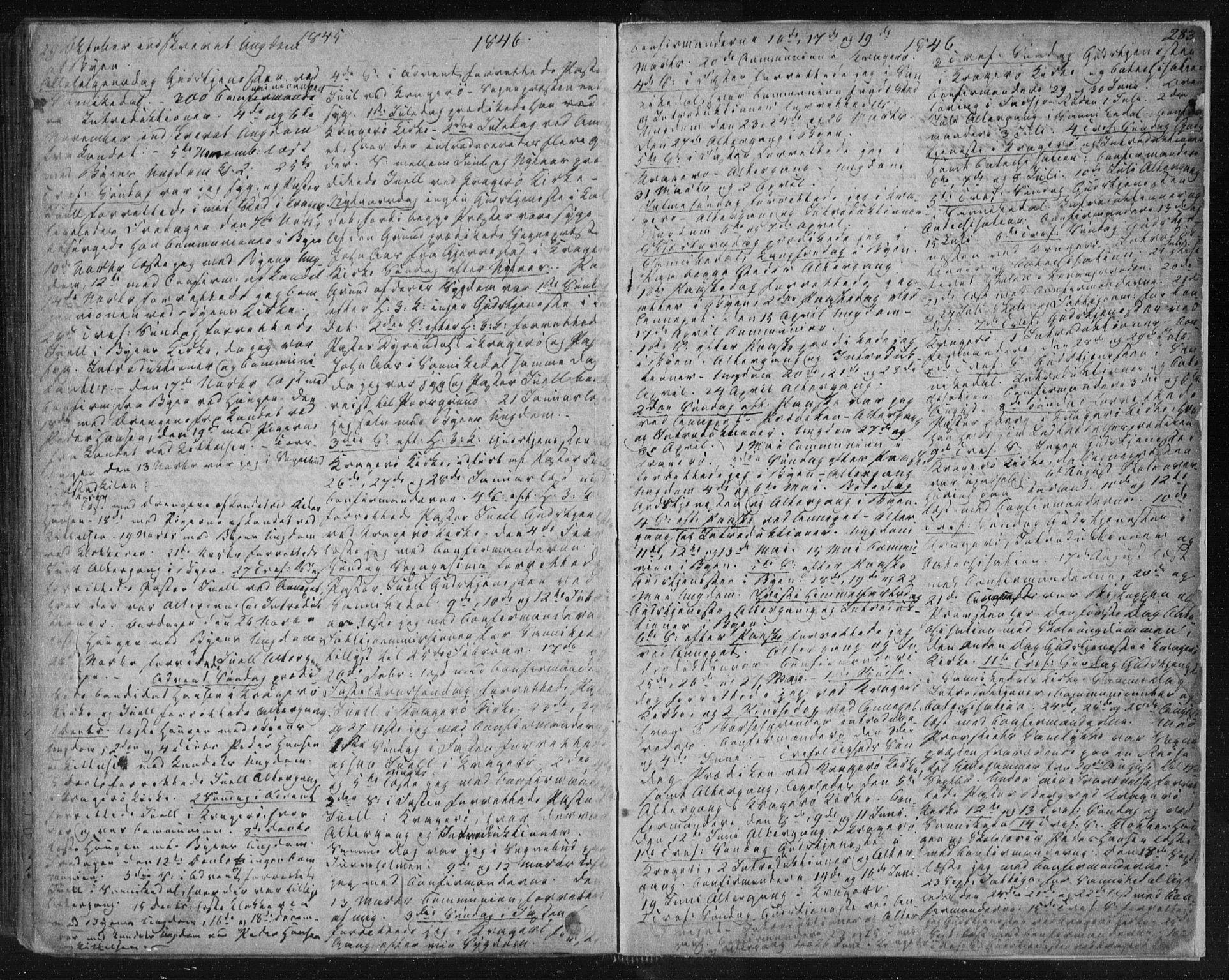 SAKO, Kragerø kirkebøker, F/Fa/L0005: Ministerialbok nr. 5, 1832-1847, s. 283