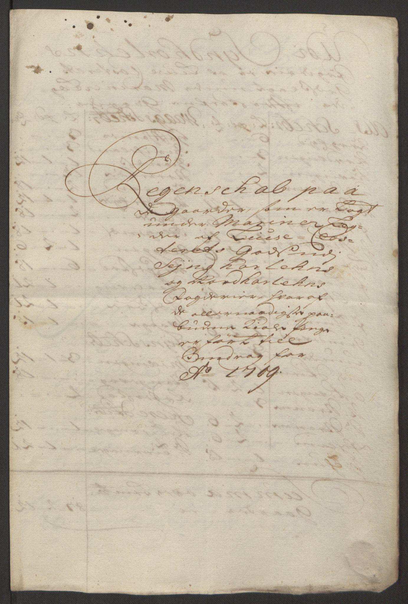 RA, Rentekammeret inntil 1814, Reviderte regnskaper, Fogderegnskap, R50/L3159: Fogderegnskap Lyse kloster, 1691-1709, s. 309