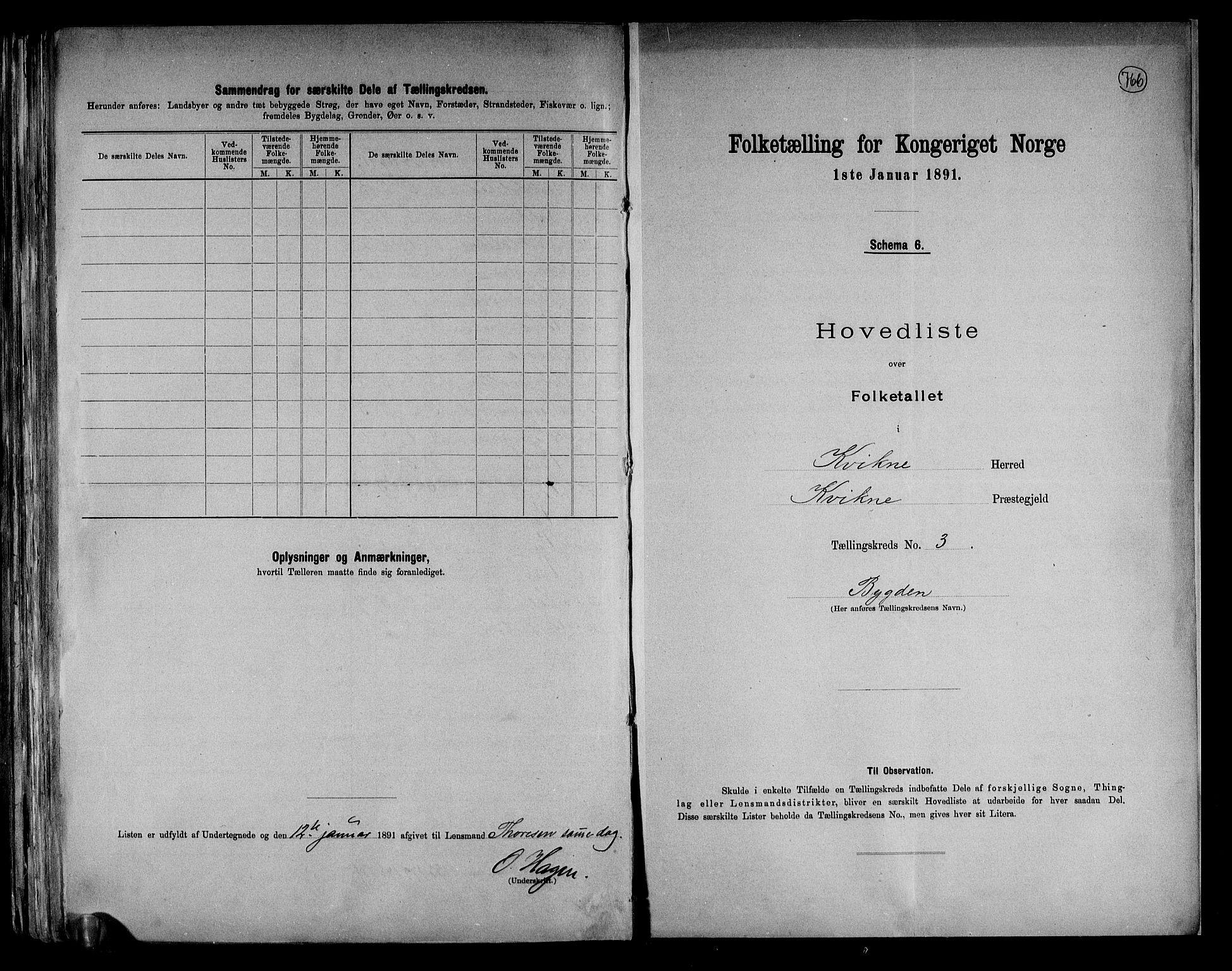 RA, Folketelling 1891 for 0440 Kvikne herred, 1891, s. 9