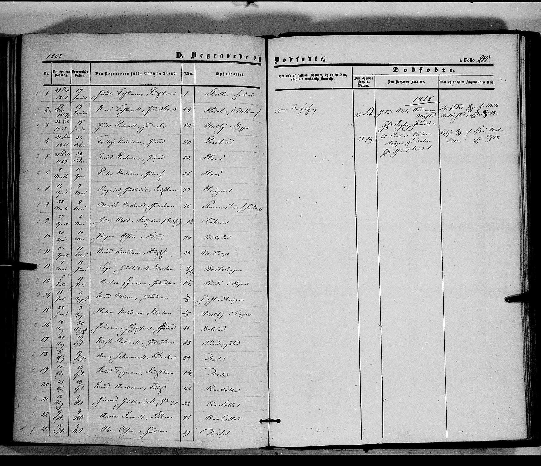 SAH, Øystre Slidre prestekontor, Ministerialbok nr. 1, 1849-1874, s. 235
