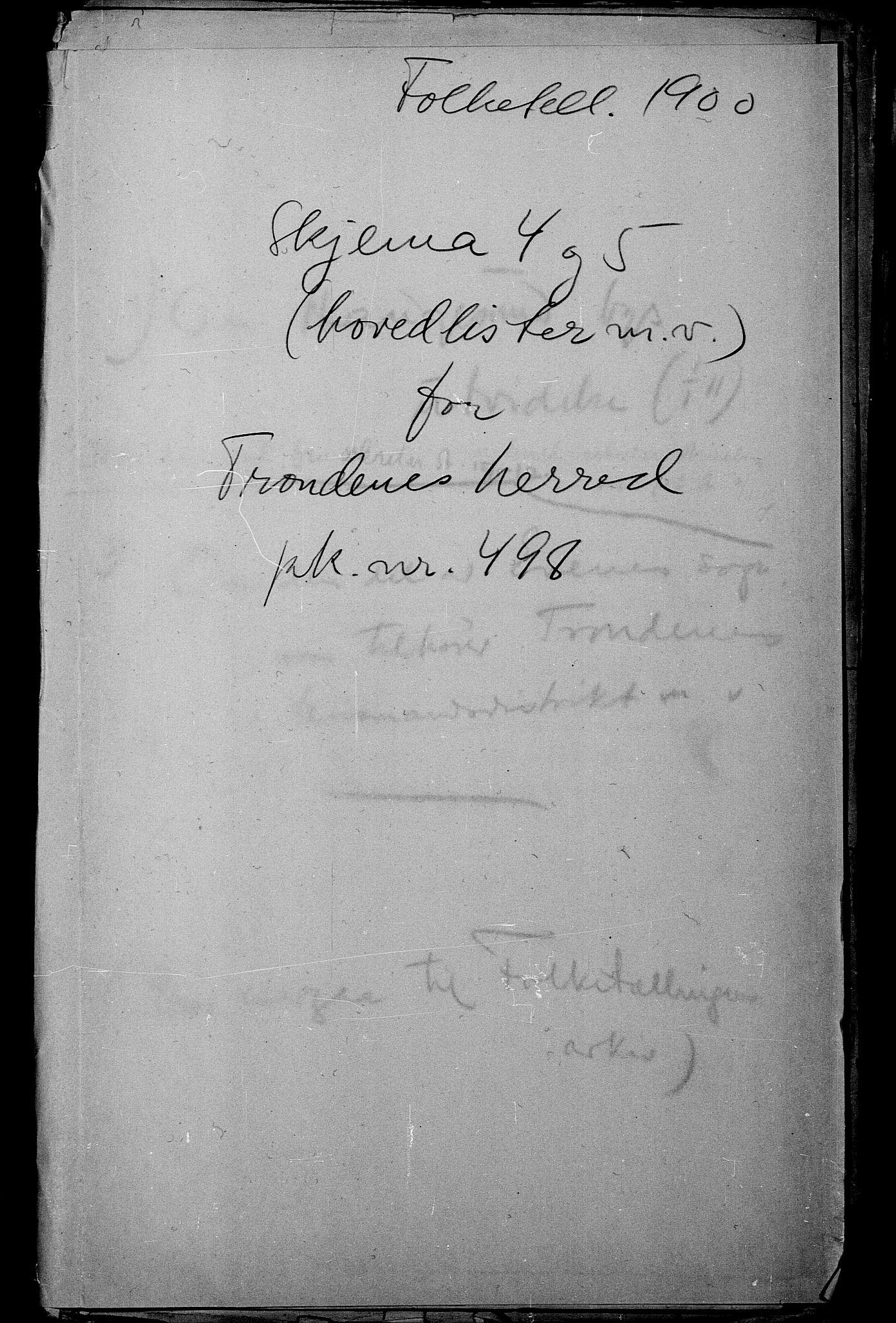 SATØ, Folketelling 1900 for 1914 Trondenes herred, 1900, s. 1