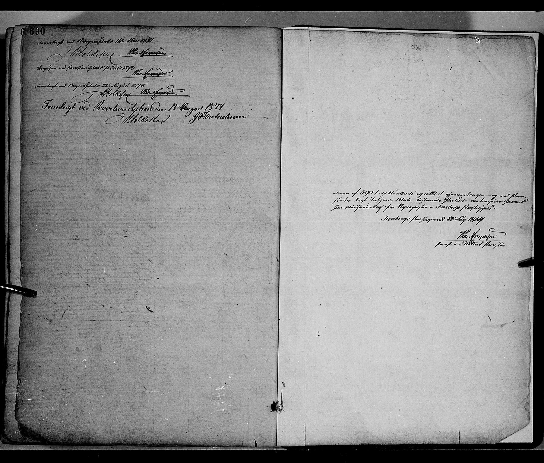 SAH, Fåberg prestekontor, Ministerialbok nr. 7, 1868-1878, s. 690