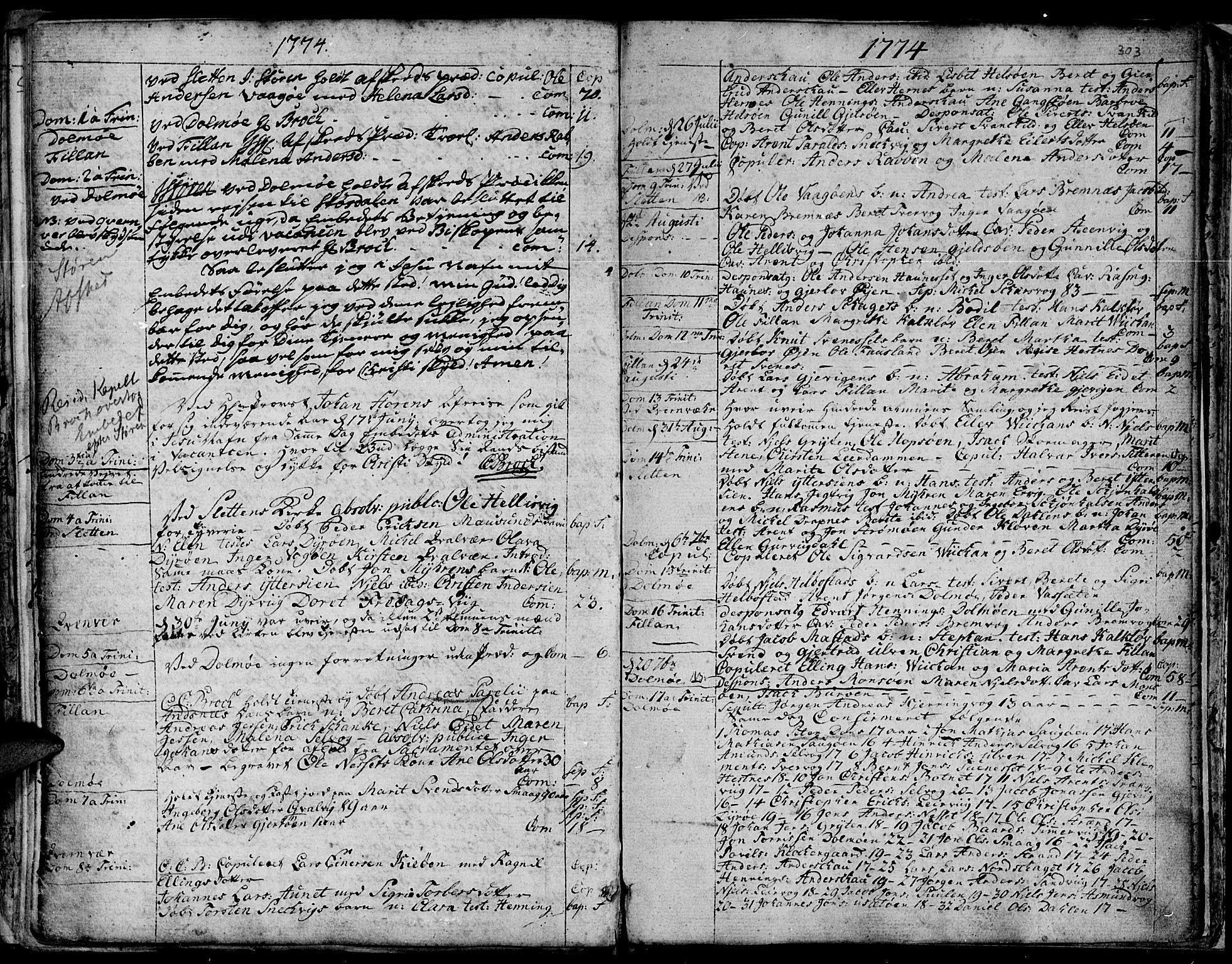 SAT, Ministerialprotokoller, klokkerbøker og fødselsregistre - Sør-Trøndelag, 634/L0525: Ministerialbok nr. 634A01, 1736-1775, s. 303