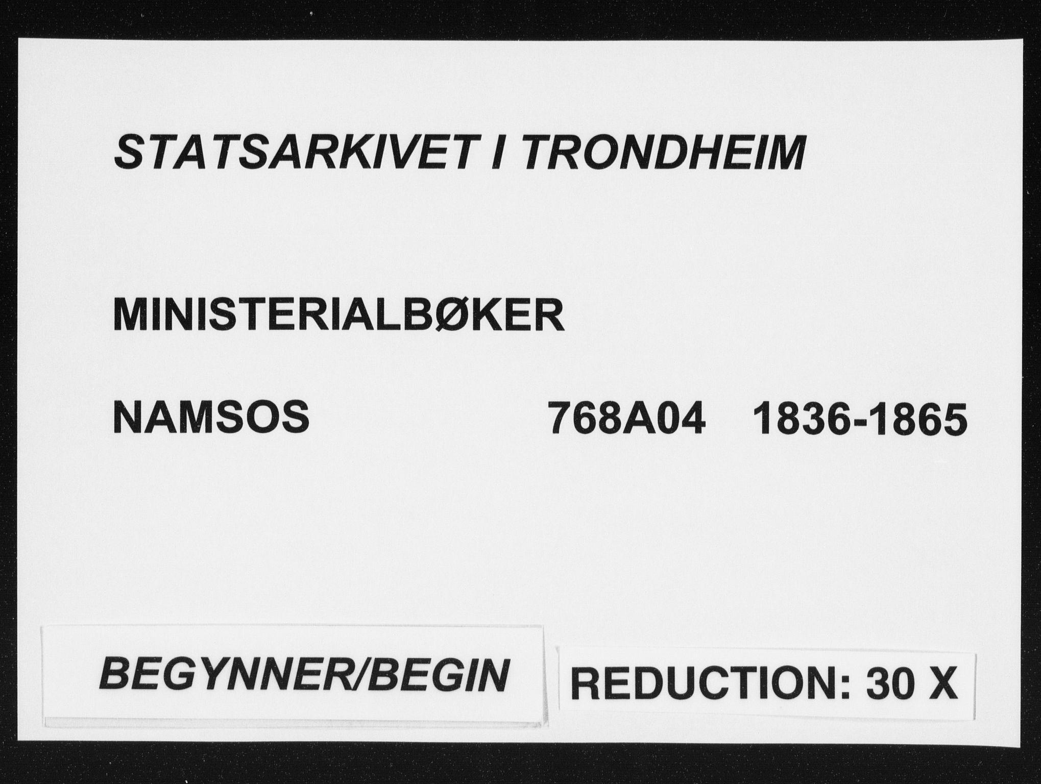 SAT, Ministerialprotokoller, klokkerbøker og fødselsregistre - Nord-Trøndelag, 768/L0569: Ministerialbok nr. 768A04, 1836-1865