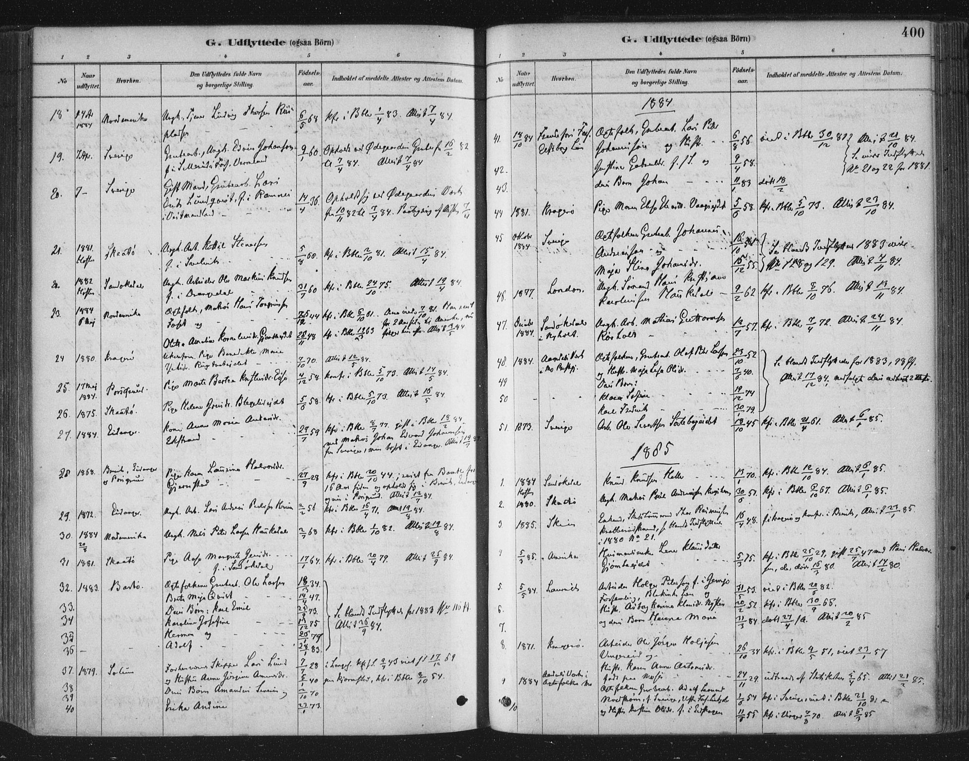 SAKO, Bamble kirkebøker, F/Fa/L0007: Ministerialbok nr. I 7, 1878-1888, s. 400