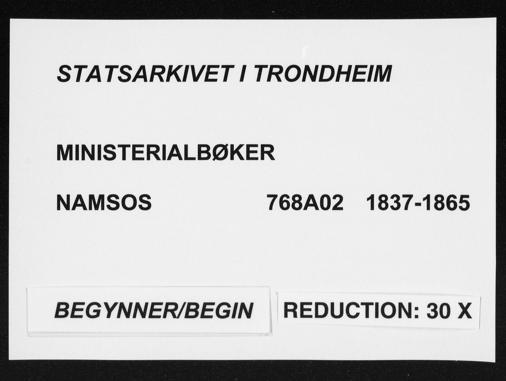 SAT, Ministerialprotokoller, klokkerbøker og fødselsregistre - Nord-Trøndelag, 768/L0567: Ministerialbok nr. 768A02, 1837-1865