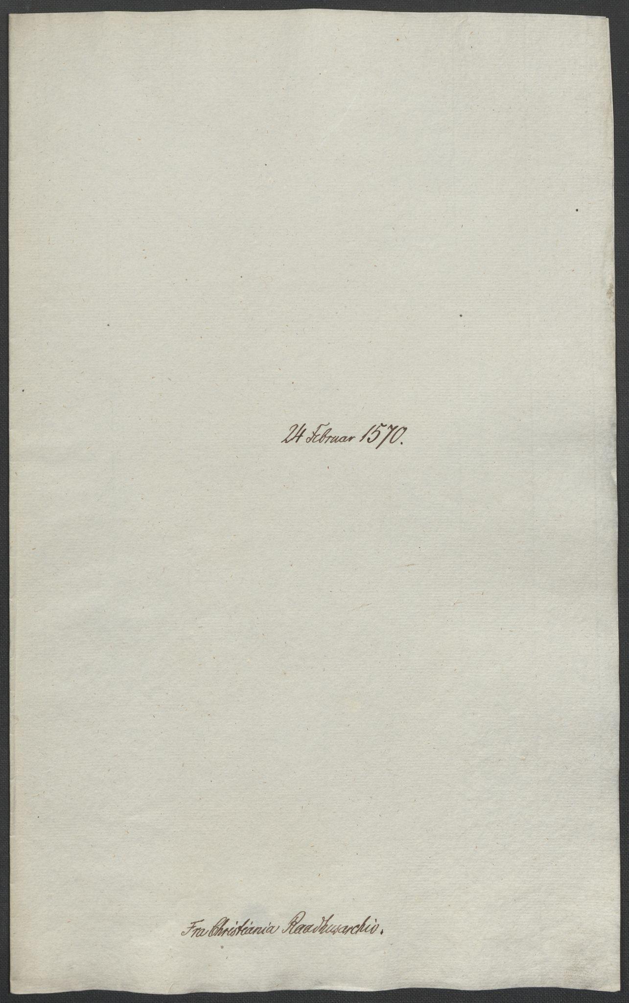 RA, Riksarkivets diplomsamling, F02/L0075: Dokumenter, 1570-1571, s. 7