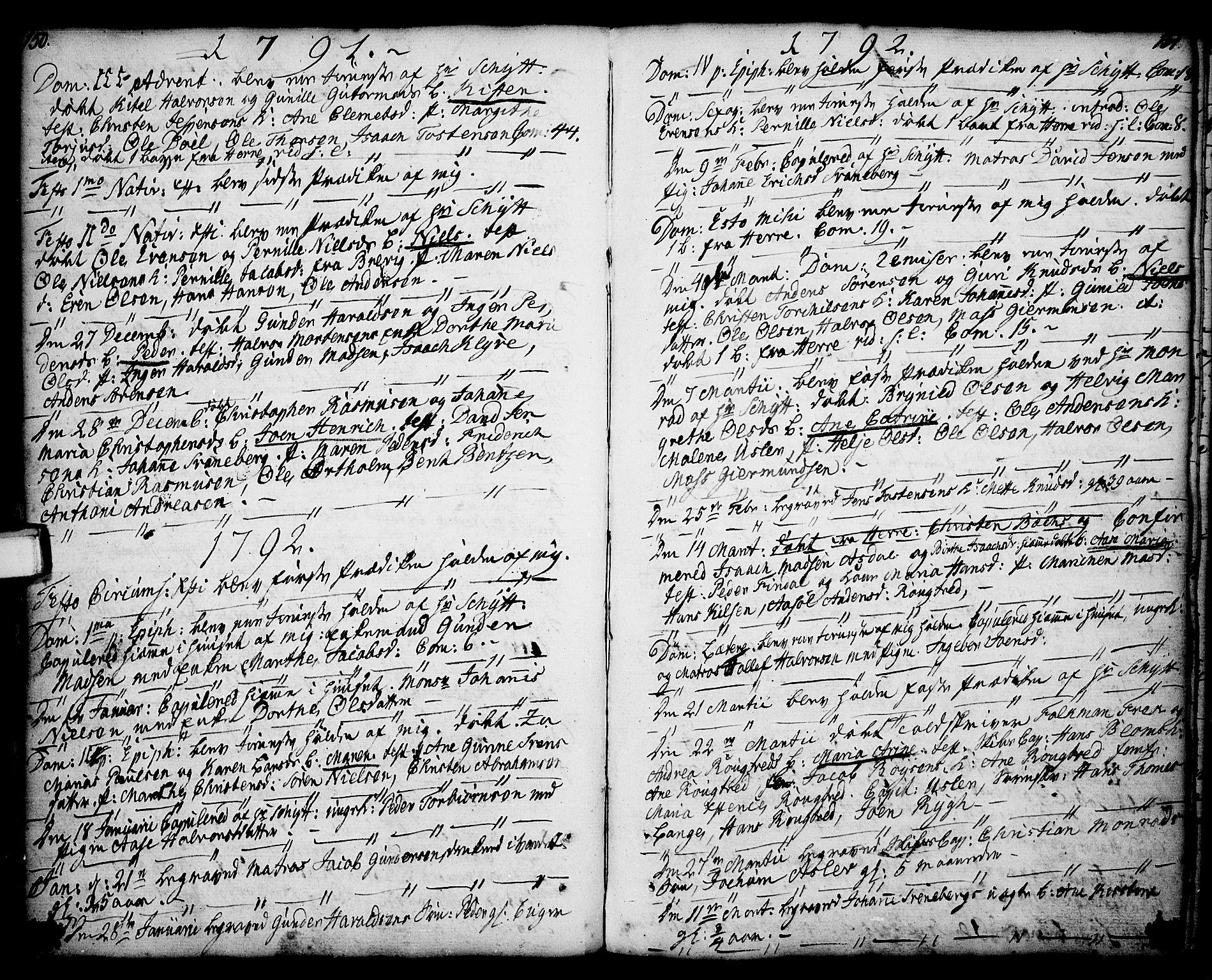SAKO, Porsgrunn kirkebøker , F/Fa/L0001: Ministerialbok nr. 1, 1764-1814, s. 150-151