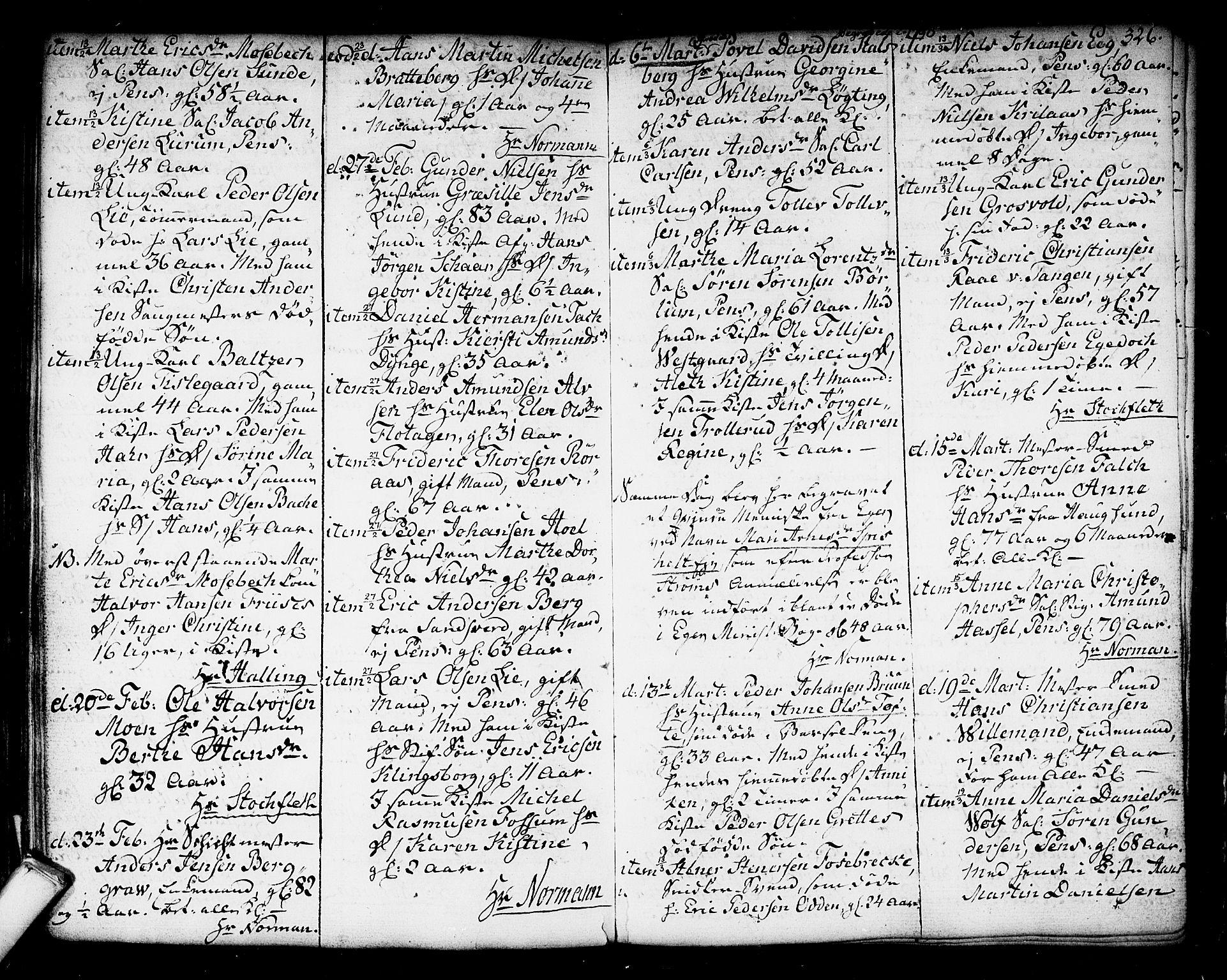 SAKO, Kongsberg kirkebøker, F/Fa/L0006: Ministerialbok nr. I 6, 1783-1797, s. 326