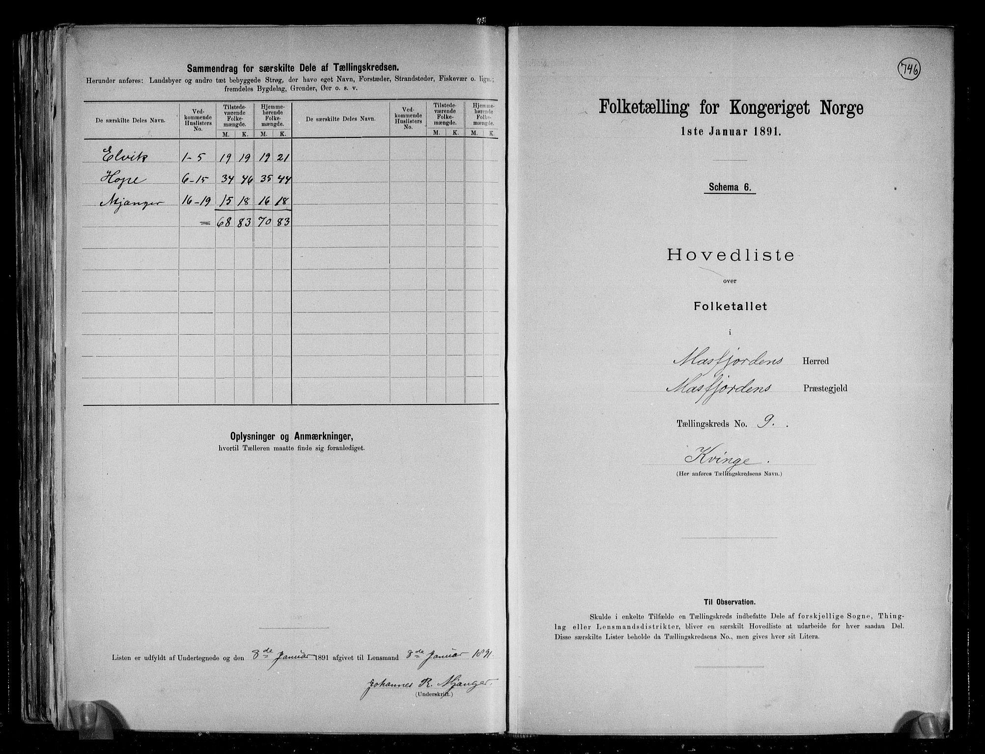 RA, Folketelling 1891 for 1266 Masfjorden herred, 1891, s. 21