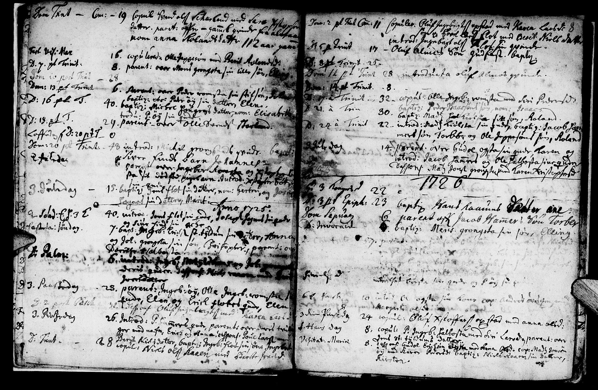SAT, Ministerialprotokoller, klokkerbøker og fødselsregistre - Nord-Trøndelag, 765/L0560: Ministerialbok nr. 765A01, 1706-1748, s. 8