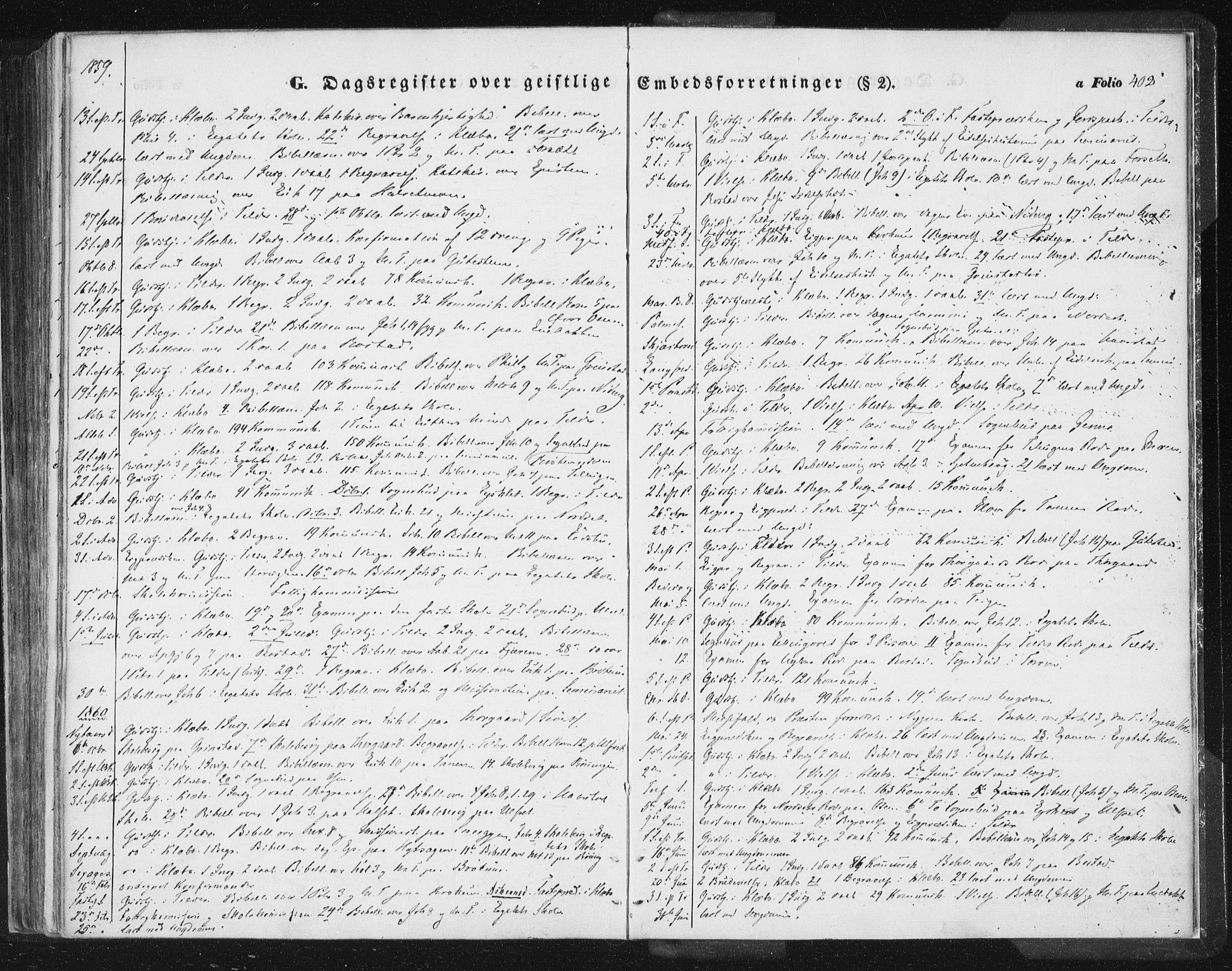 SAT, Ministerialprotokoller, klokkerbøker og fødselsregistre - Sør-Trøndelag, 618/L0441: Ministerialbok nr. 618A05, 1843-1862, s. 402