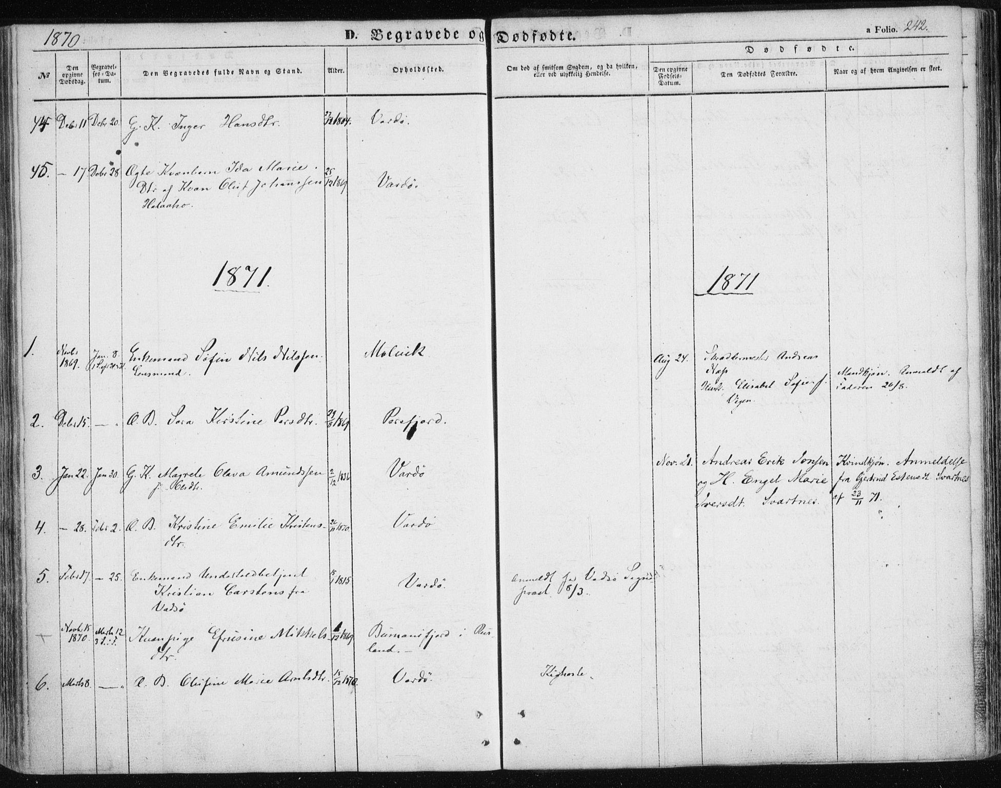 SATØ, Vardø sokneprestkontor, H/Ha/L0004kirke: Ministerialbok nr. 4, 1862-1871, s. 242