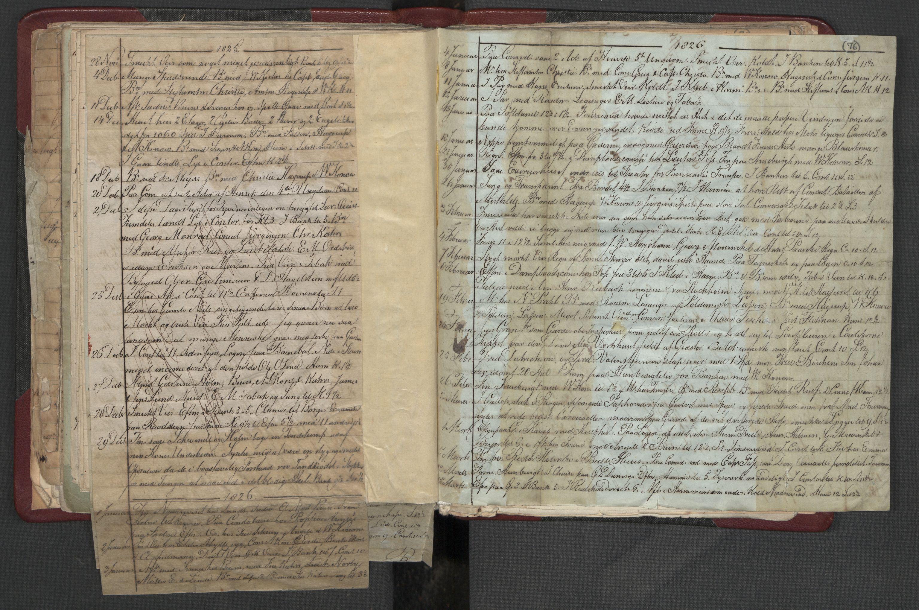 RA, Meltzer, Fredrik, F/L0004: Dagbok, 1822-1830, s. 75b-76a