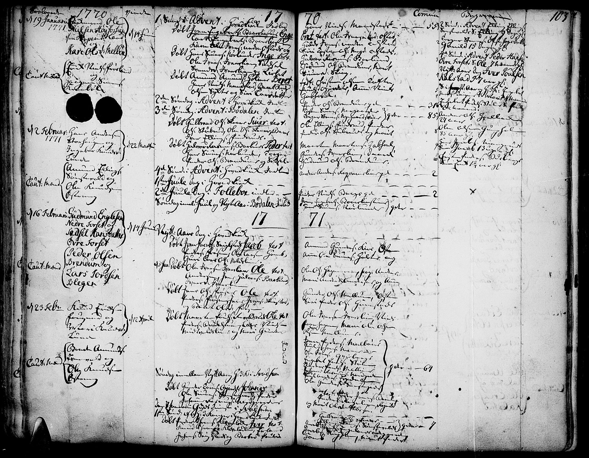 SAH, Gausdal prestekontor, Ministerialbok nr. 3, 1758-1809, s. 103
