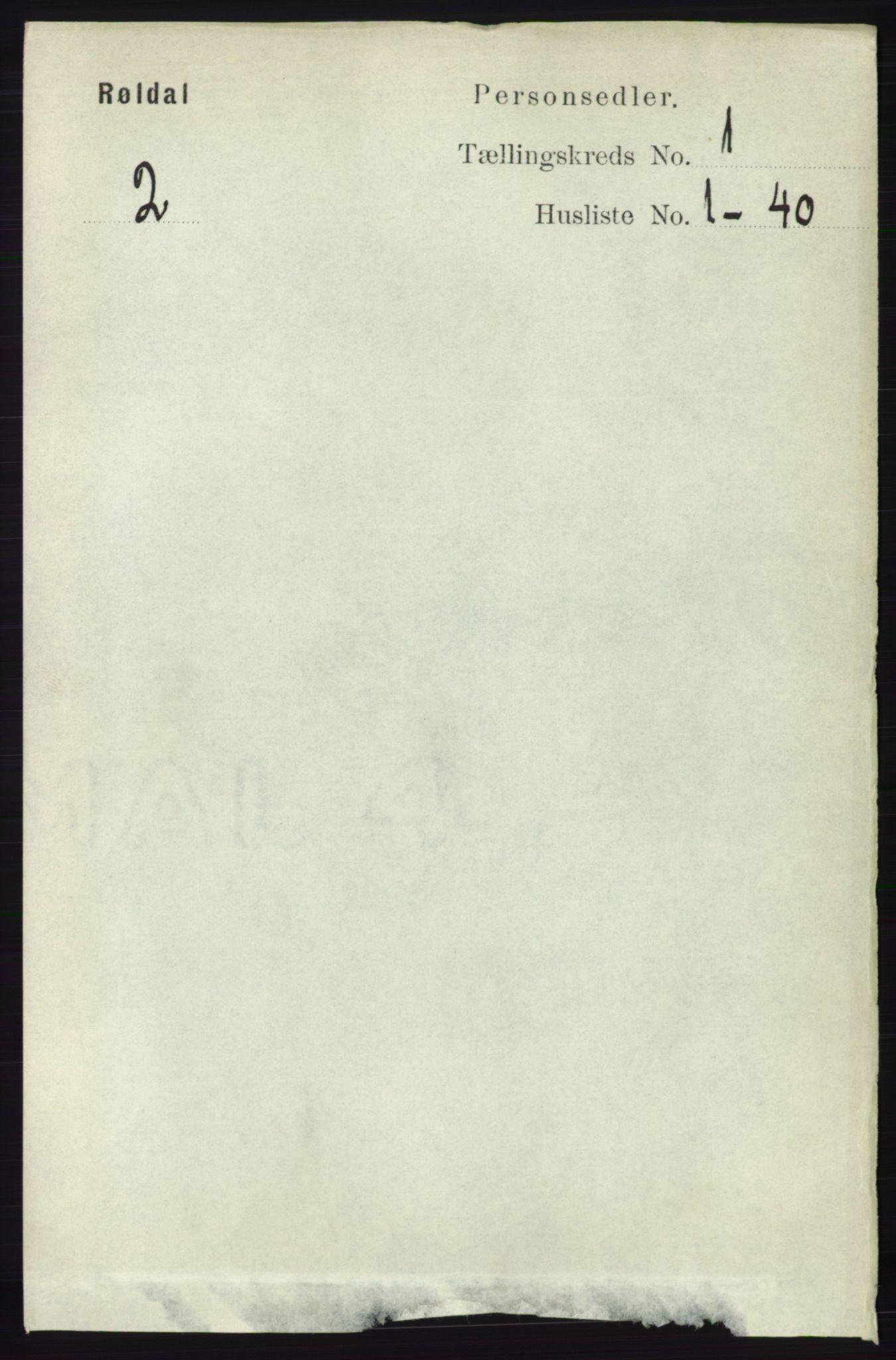 RA, Folketelling 1891 for 1229 Røldal herred, 1891, s. 90