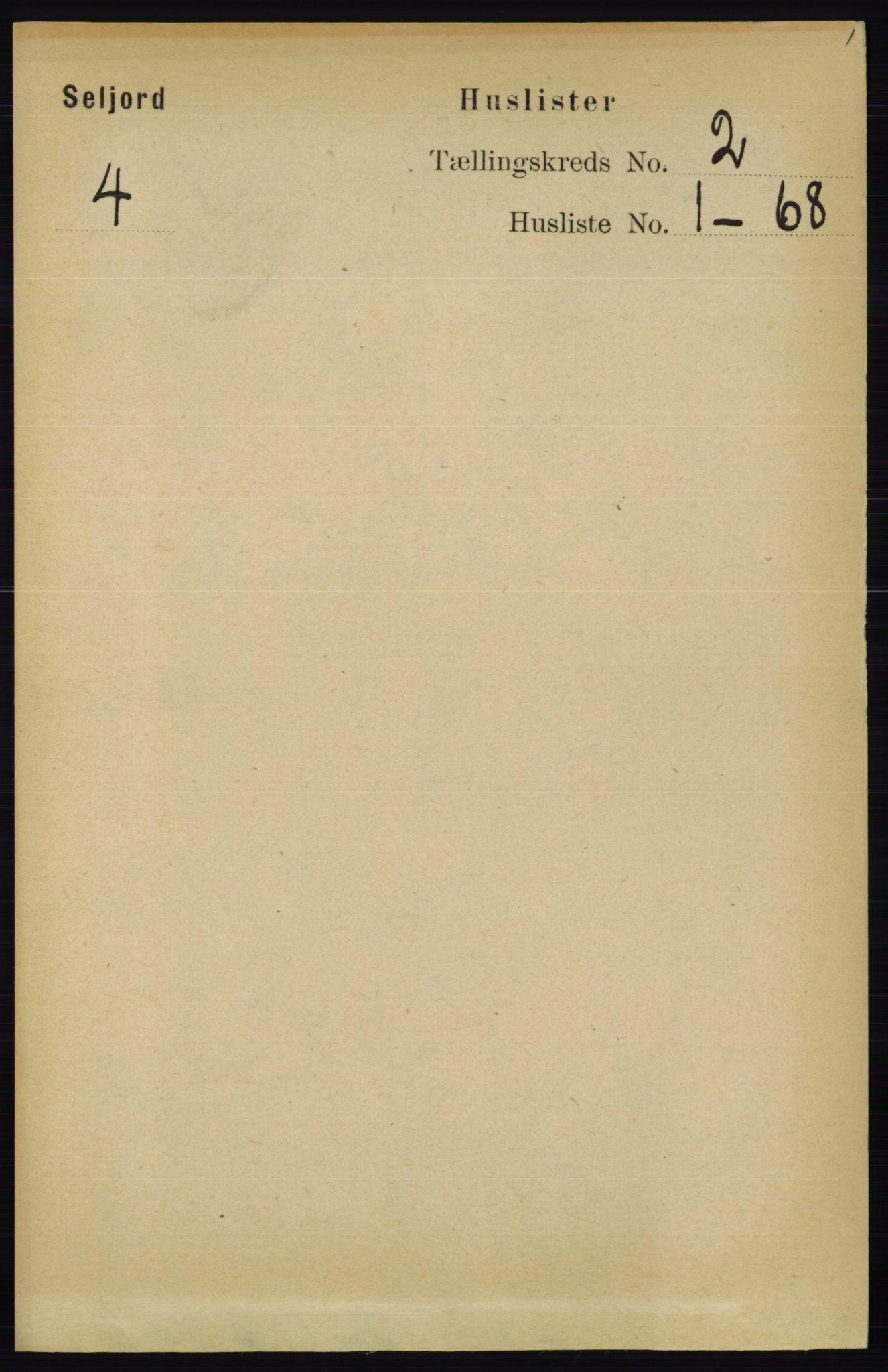 RA, Folketelling 1891 for 0828 Seljord herred, 1891, s. 497