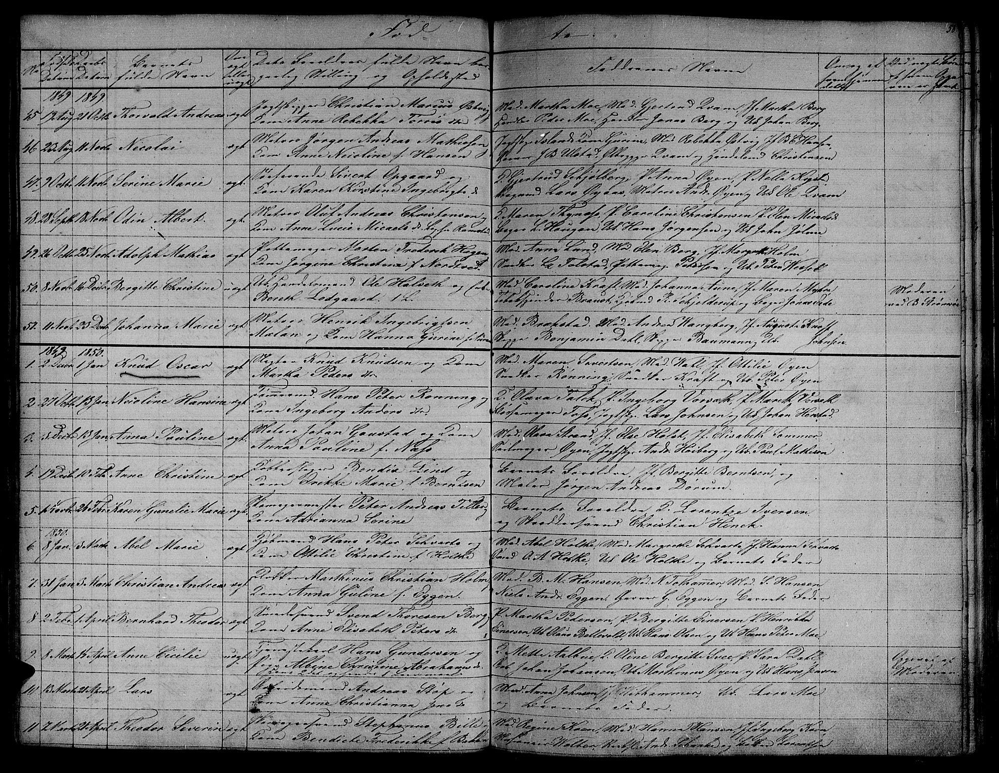 SAT, Ministerialprotokoller, klokkerbøker og fødselsregistre - Sør-Trøndelag, 604/L0182: Ministerialbok nr. 604A03, 1818-1850, s. 58